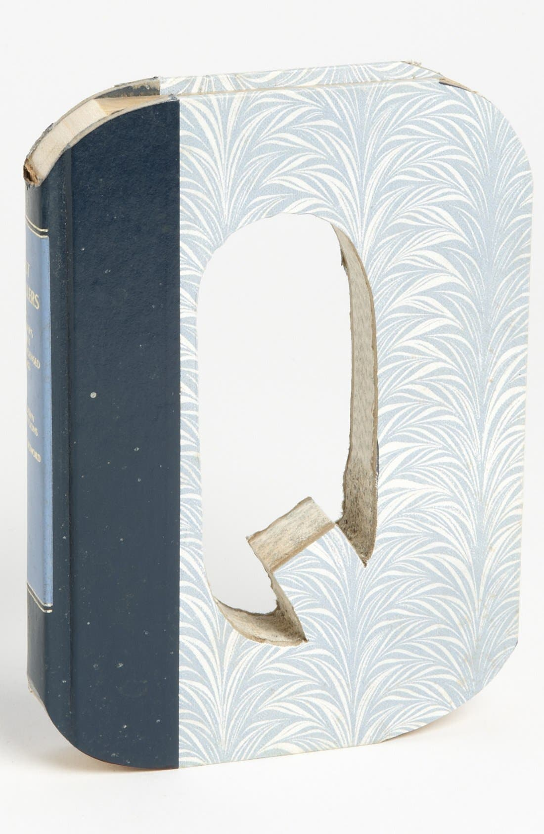 Main Image - Second Nature by Hand 'One of a Kind Letter' Hand-Carved Recycled Book Shelf Art