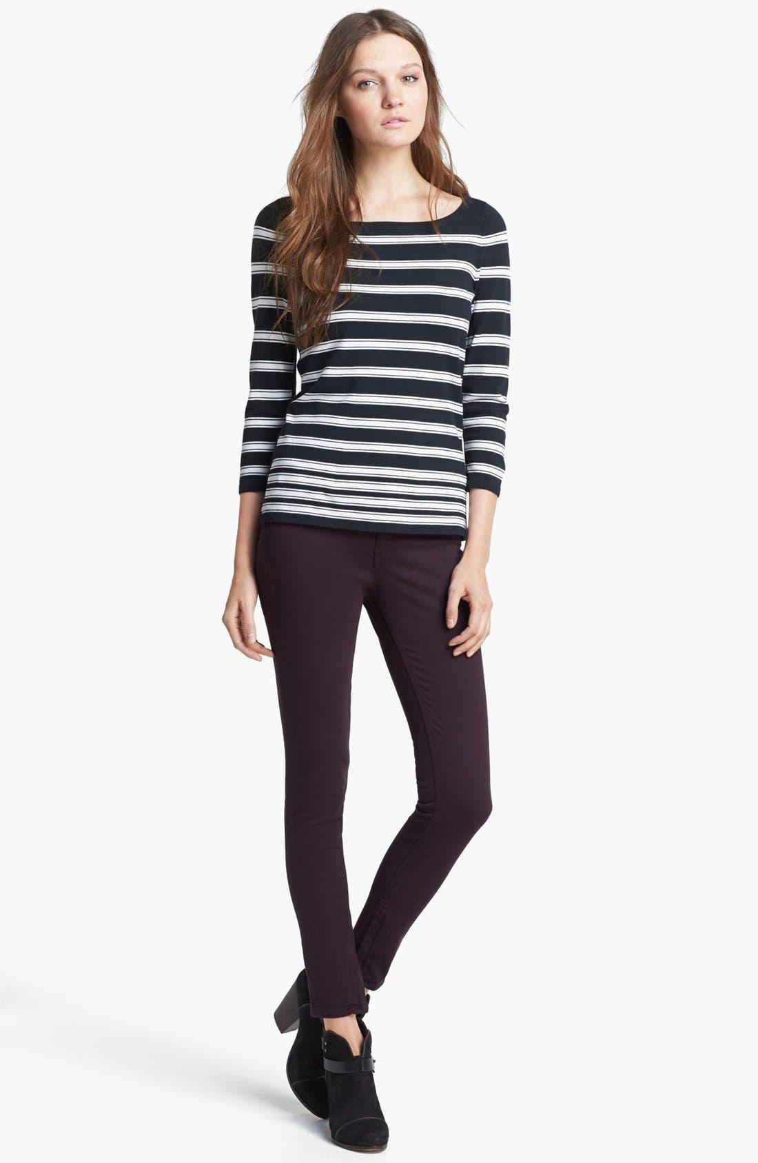 Alternate Image 2  - rag & bone 'Sara' Stripe Knit Top