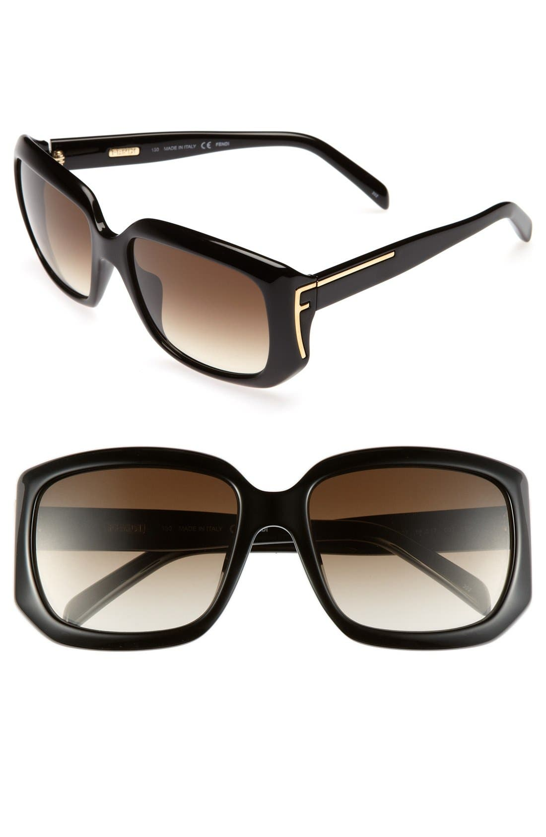 Alternate Image 1 Selected - Fendi 56mm Oversized Sunglasses