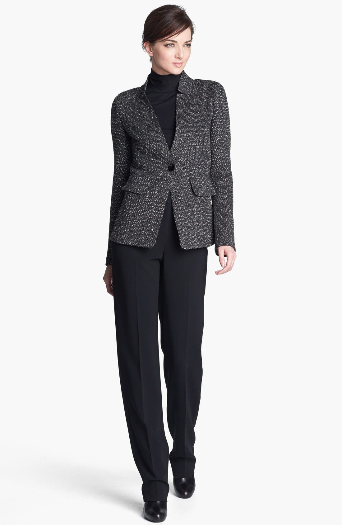 Alternate Image 2  - St. John Collection Donegal Chevron Tweed Knit Jacket