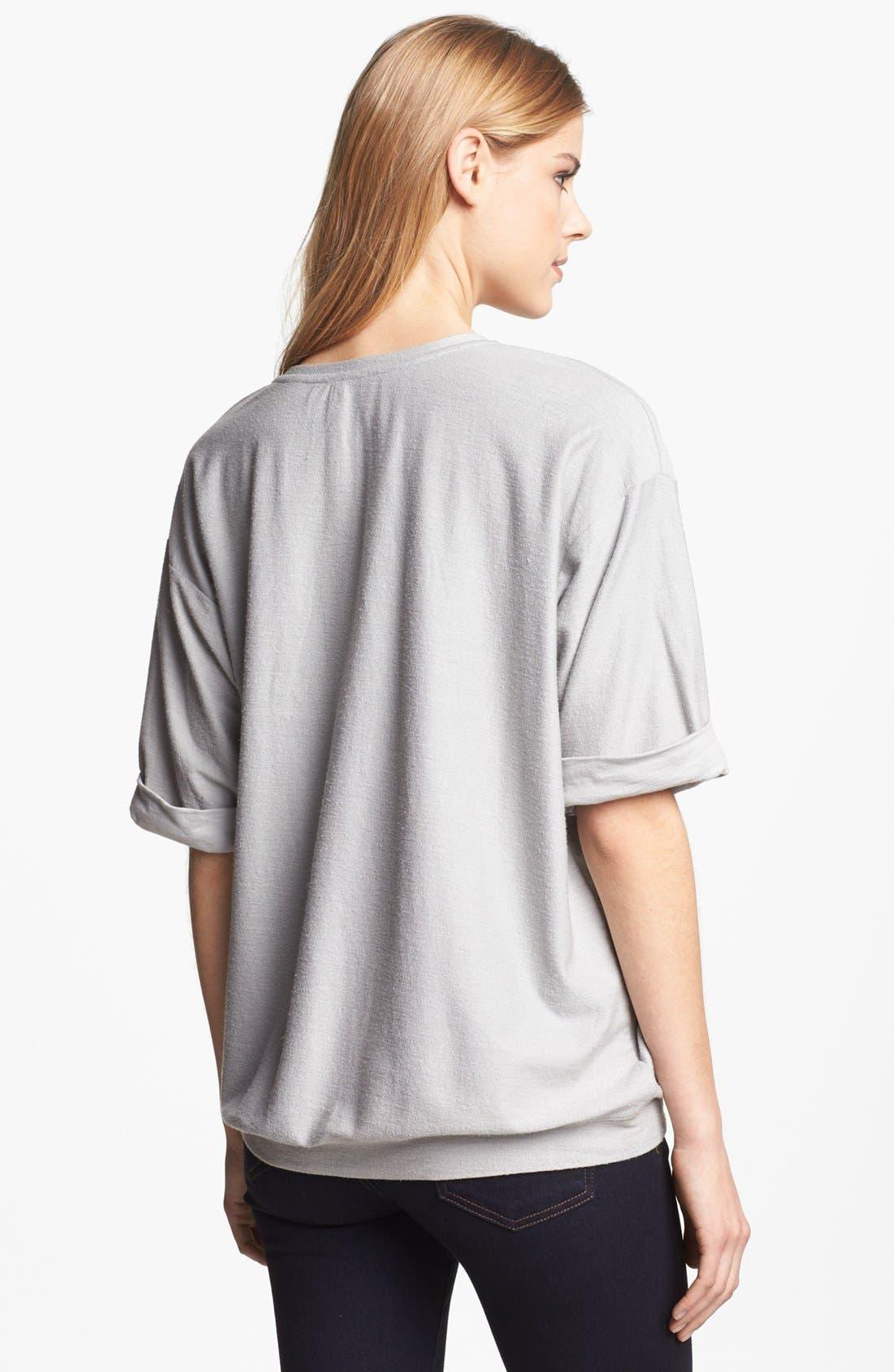 Alternate Image 2  - Max & Mia Studded Graphic Sweatshirt