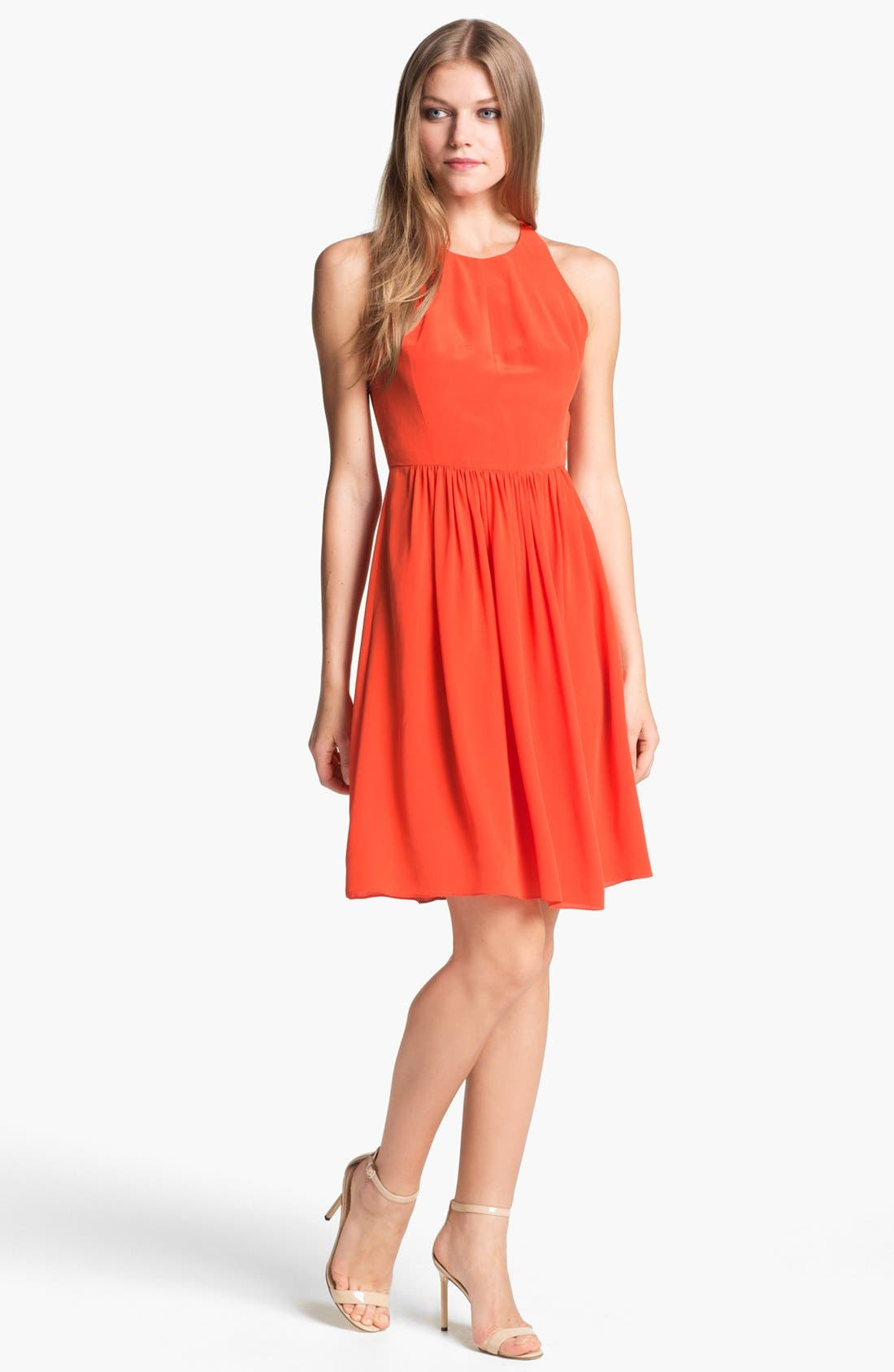 Alternate Image 1 Selected - Rebecca Taylor 'Demi Femme' Silk Fit & Flare Dress