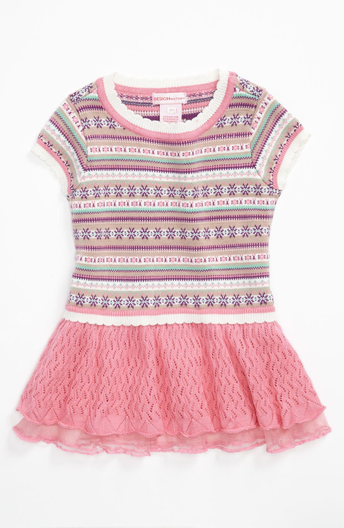 Main Image - Design History 'Fair Isle' Dress (Baby Girls)