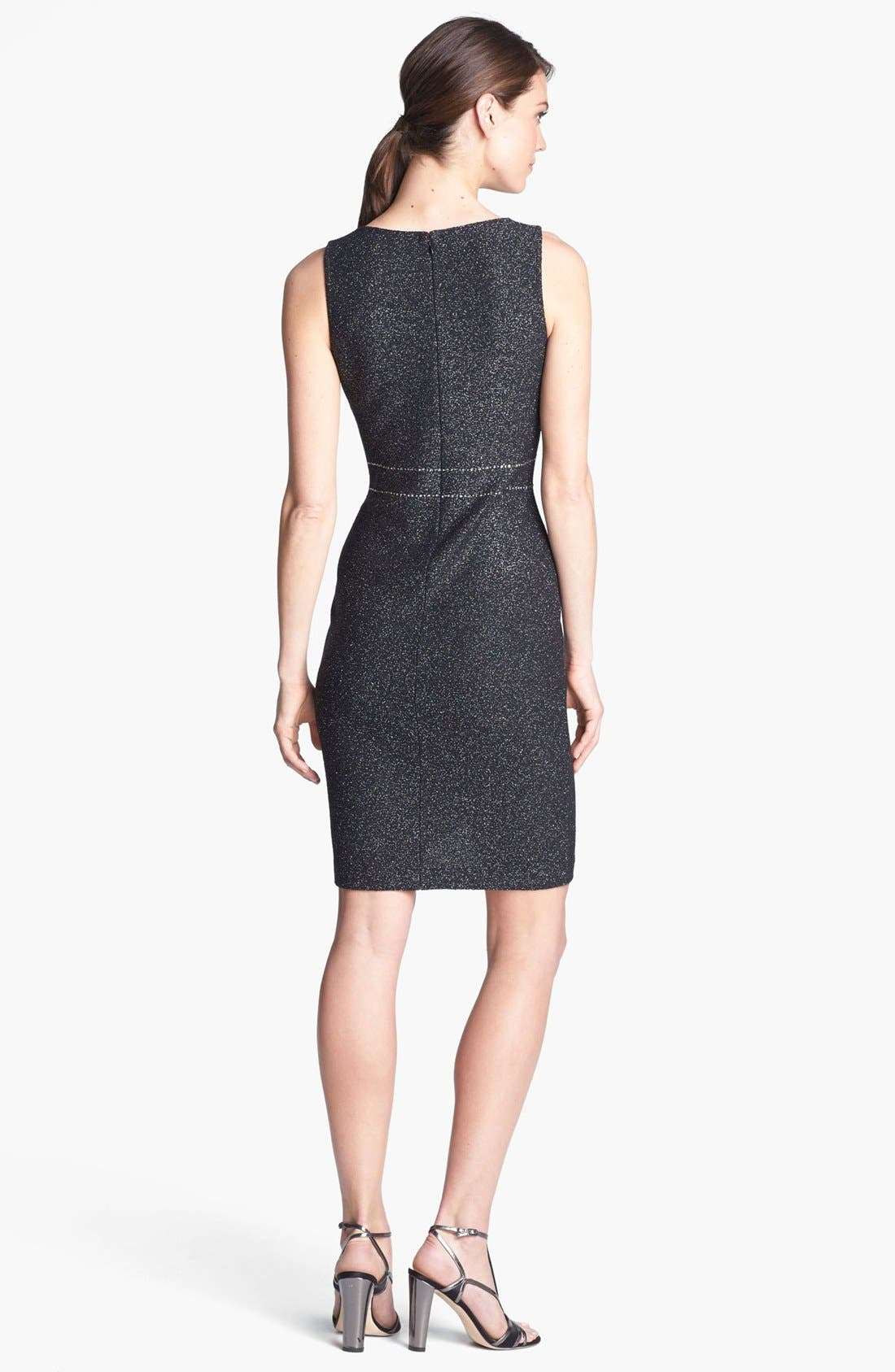 Alternate Image 2  - St. John Collection Sequin Embellished Shimmer Tweed Dress
