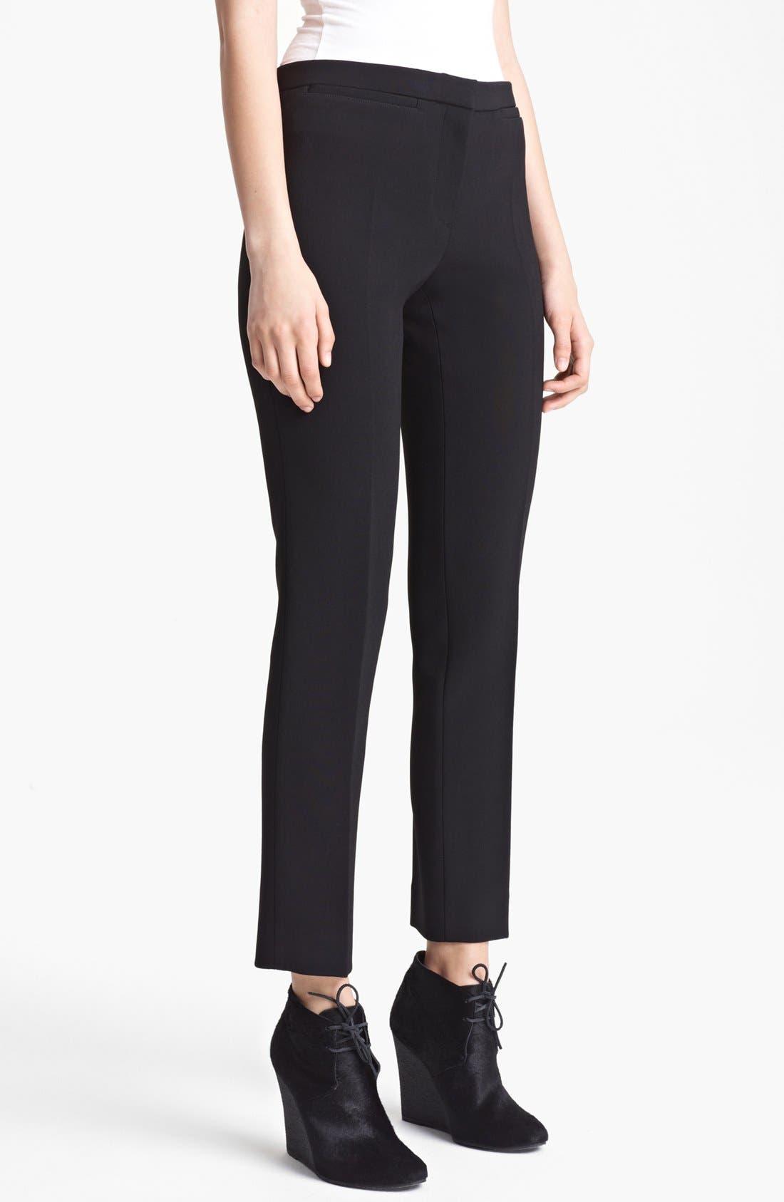 Main Image - Burberry Prorsum Narrow Leg Stretch Crepe Pants