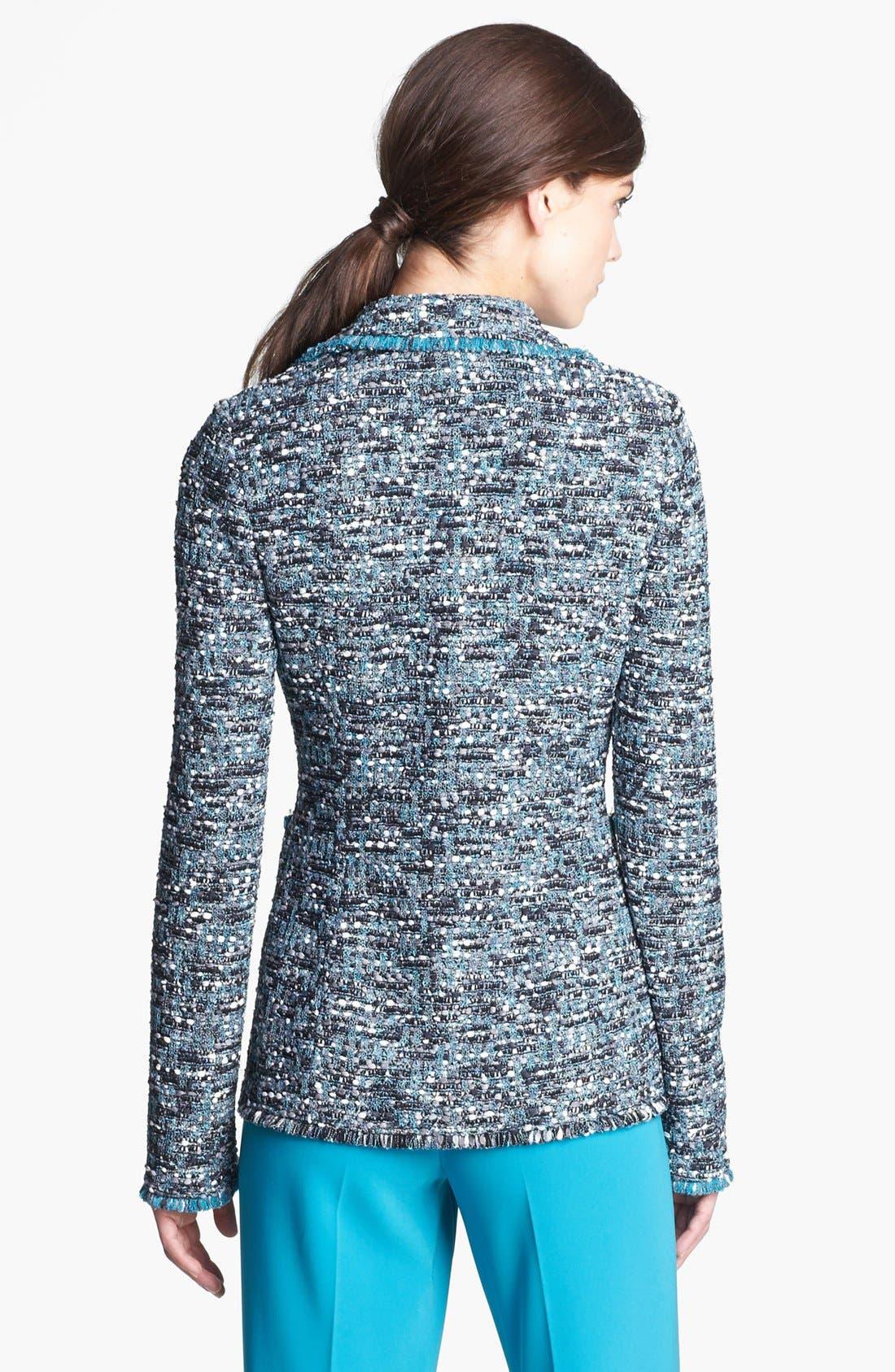 Alternate Image 2  - St. John Collection Ribbon Tweed Knit Jacket