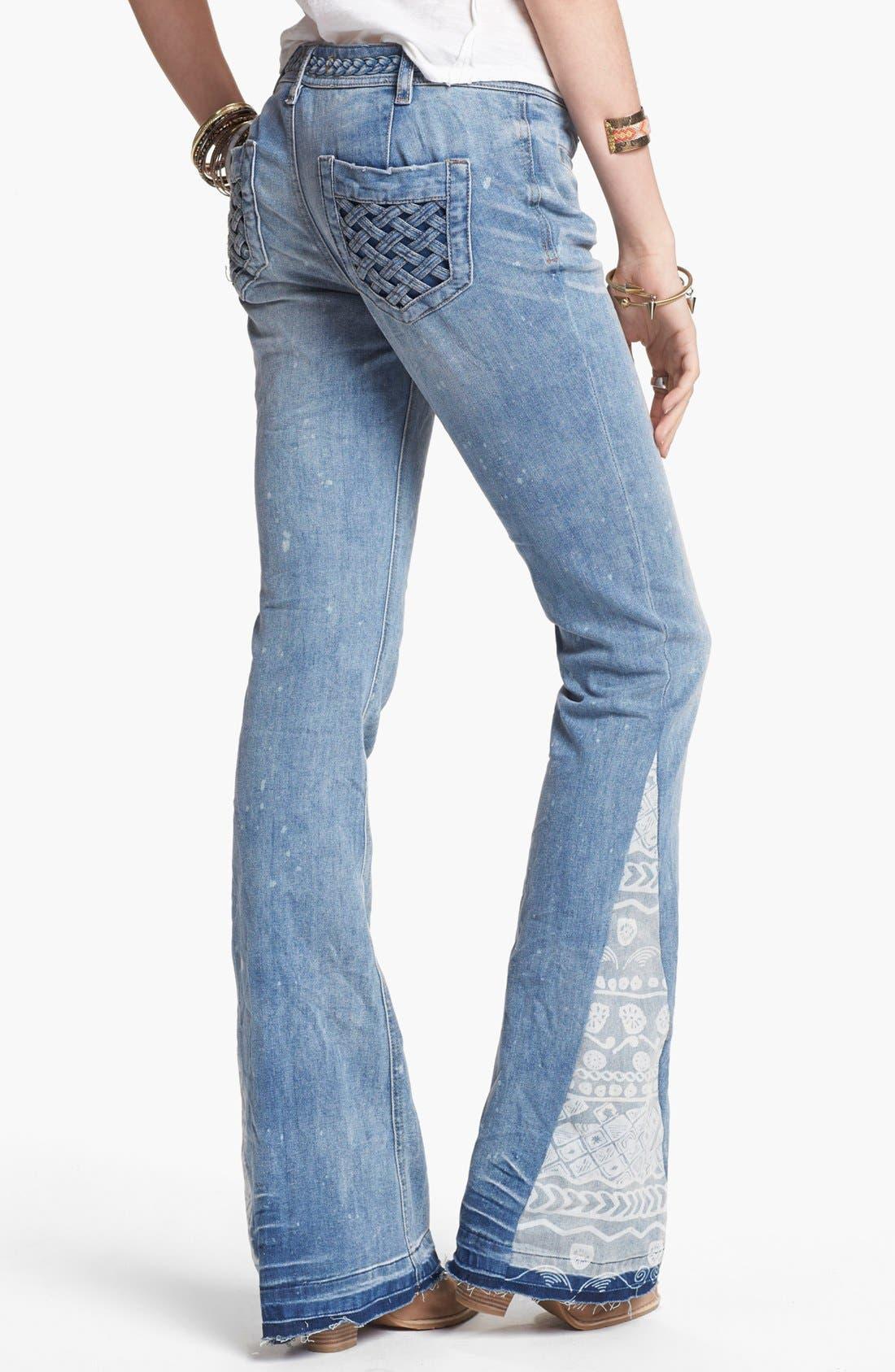 Alternate Image 2  - Free People 'Mermaid' Flare Leg Jeans (Palms Wash)