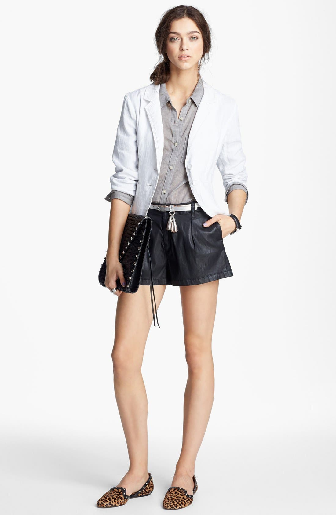 Alternate Image 2  - Sperry Top-Sider® Tasseled Metallic Leather Belt