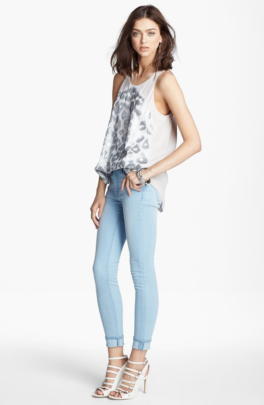 Alternate Image 1 Selected - Rebecca Taylor Tank & J Brand Jeans