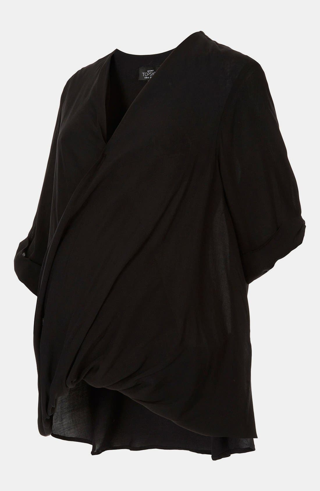 Alternate Image 1 Selected - Topshop Drape Front Maternity Blouse