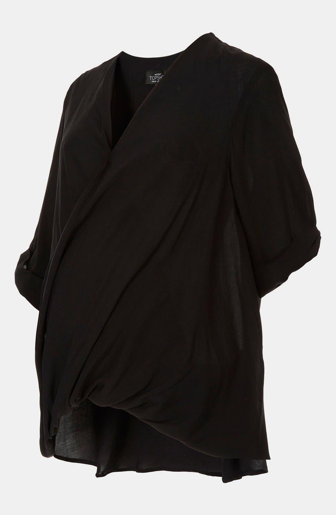 Main Image - Topshop Drape Front Maternity Blouse