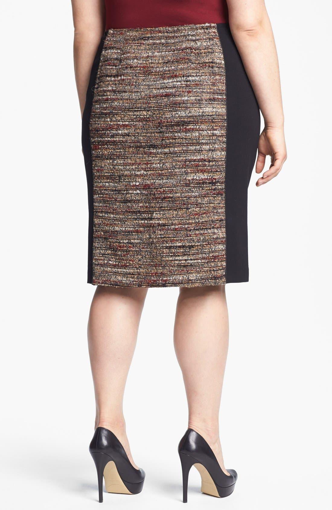 Alternate Image 2  - Lafayette 148 New York 'Christina' Tweed Pencil Skirt (Plus Size)