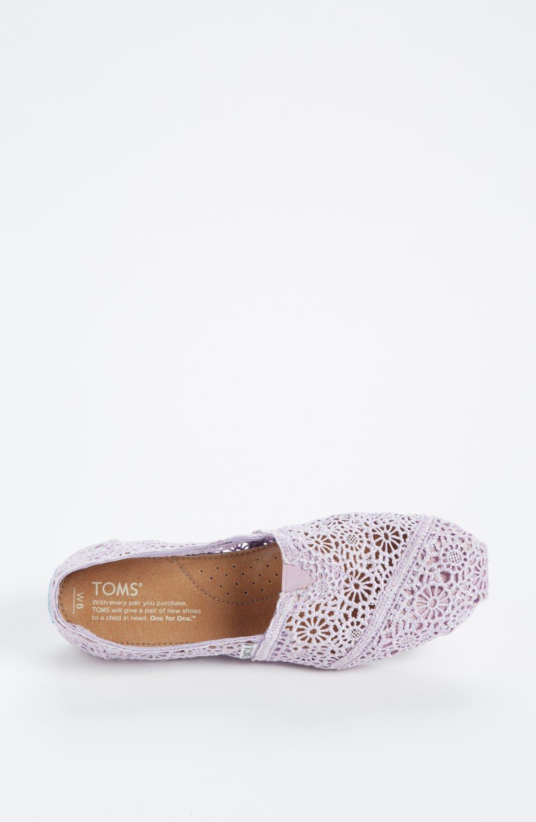 Alternate Image 3  - TOMS 'Classic - Lilac Snow' Crochet Slip-On (Women)