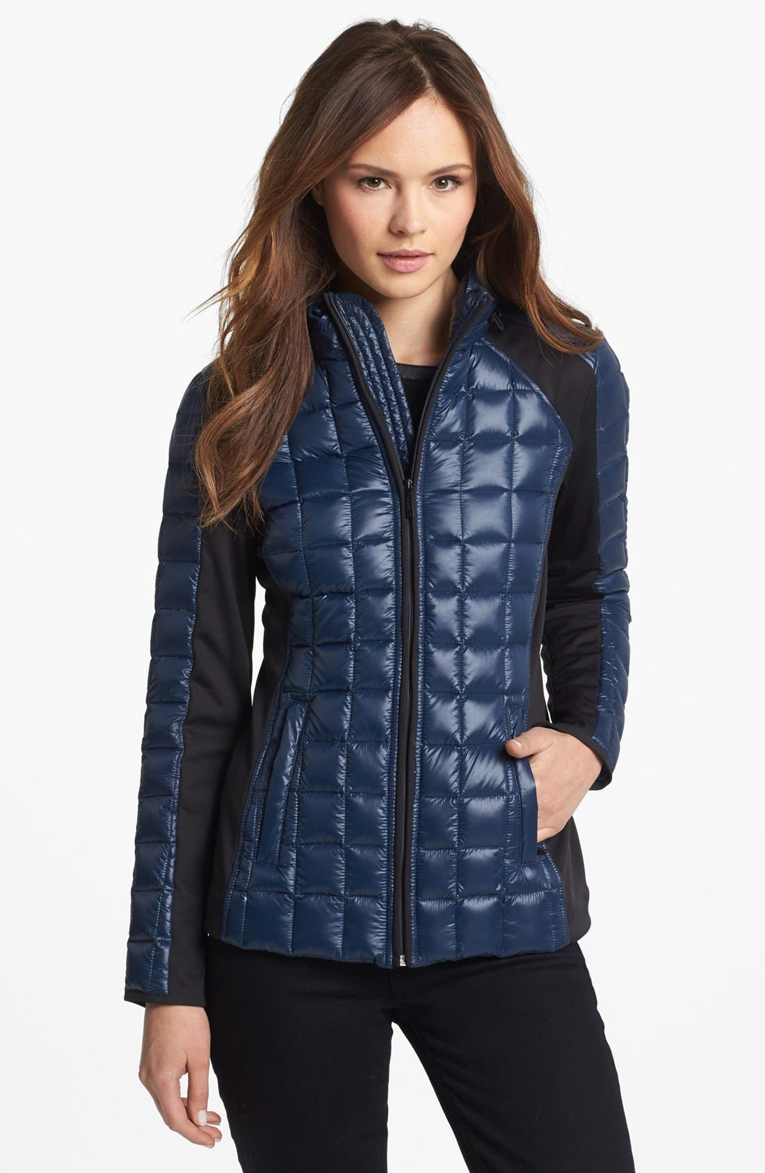 Alternate Image 1 Selected - Laundry by Shelli Segal Soft Shell Trim Down Jacket