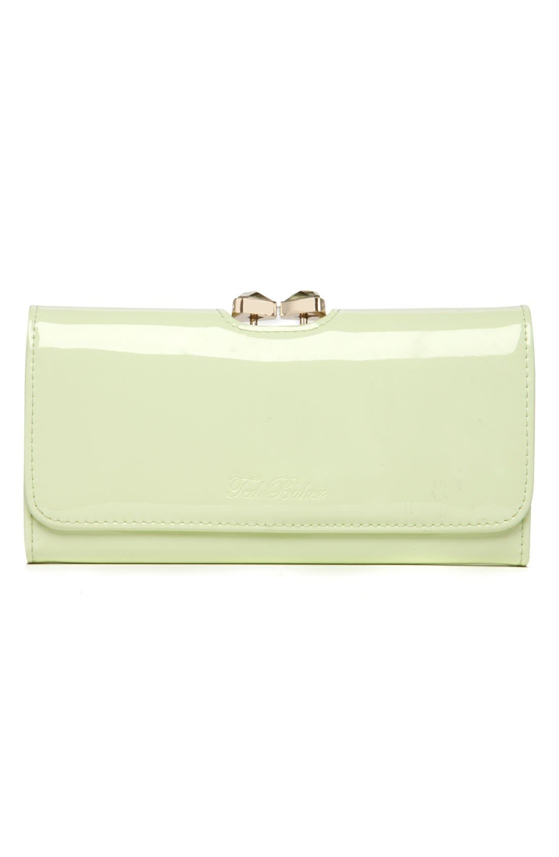 Main Image - Ted Baker London 'Bow Crystal' Matinee Wallet