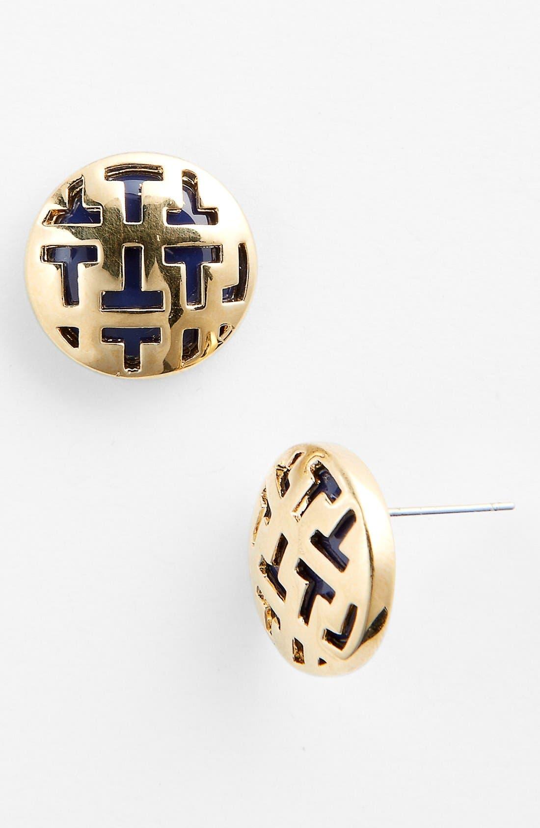 Main Image - Tory Burch 'Color Frete' Button Stud Earrings