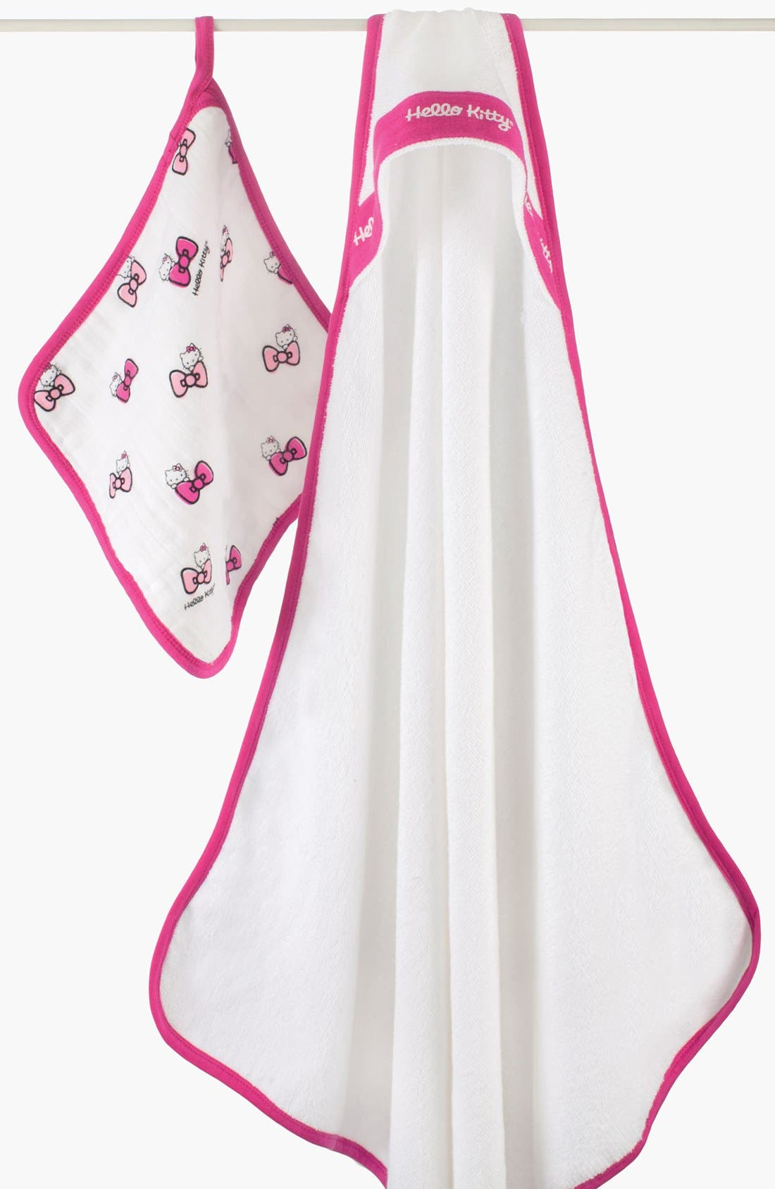 Alternate Image 1 Selected - aden + anais Hello Kitty® Hooded Towel (Infant)