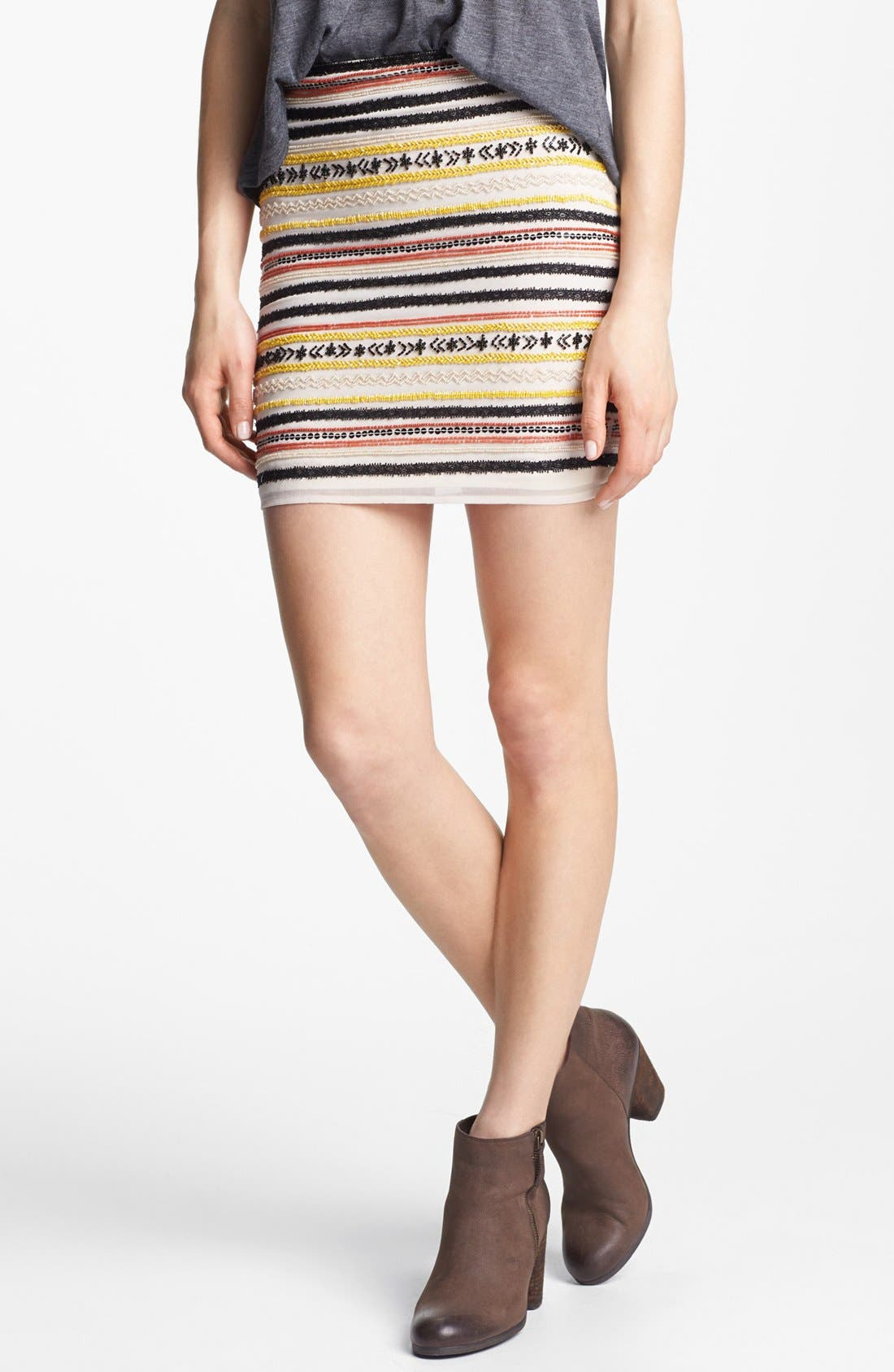Main Image - Willow & Clay Embellished Miniskirt