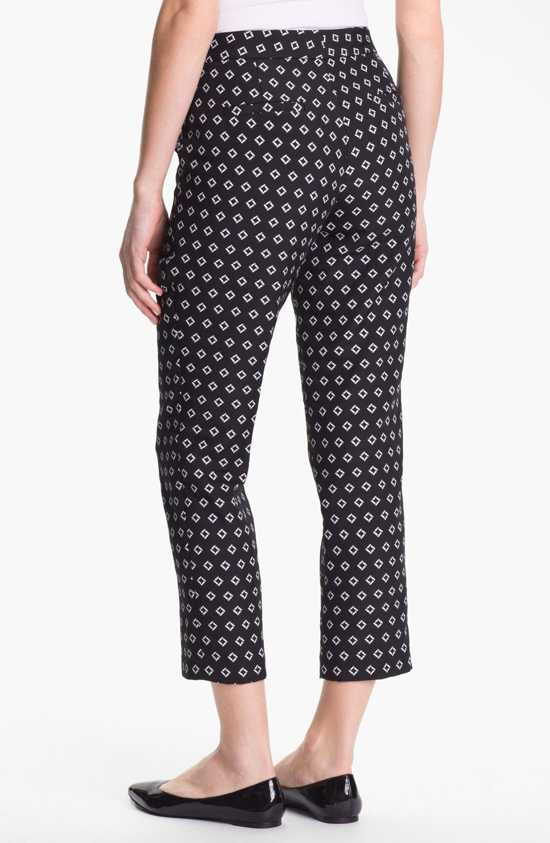Alternate Image 2  - Vince Camuto Diamond Jacquard Skinny Ankle Pants (Petite)