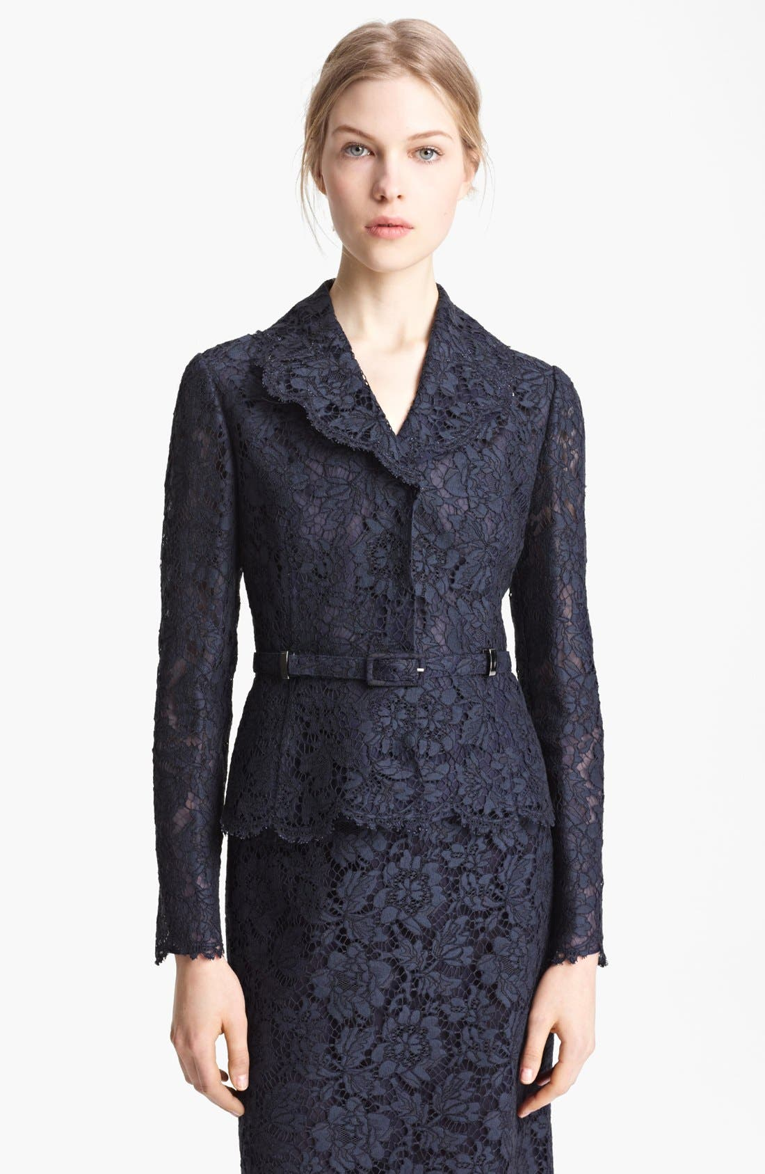 Alternate Image 1 Selected - Valentino Belted Lace Jacket