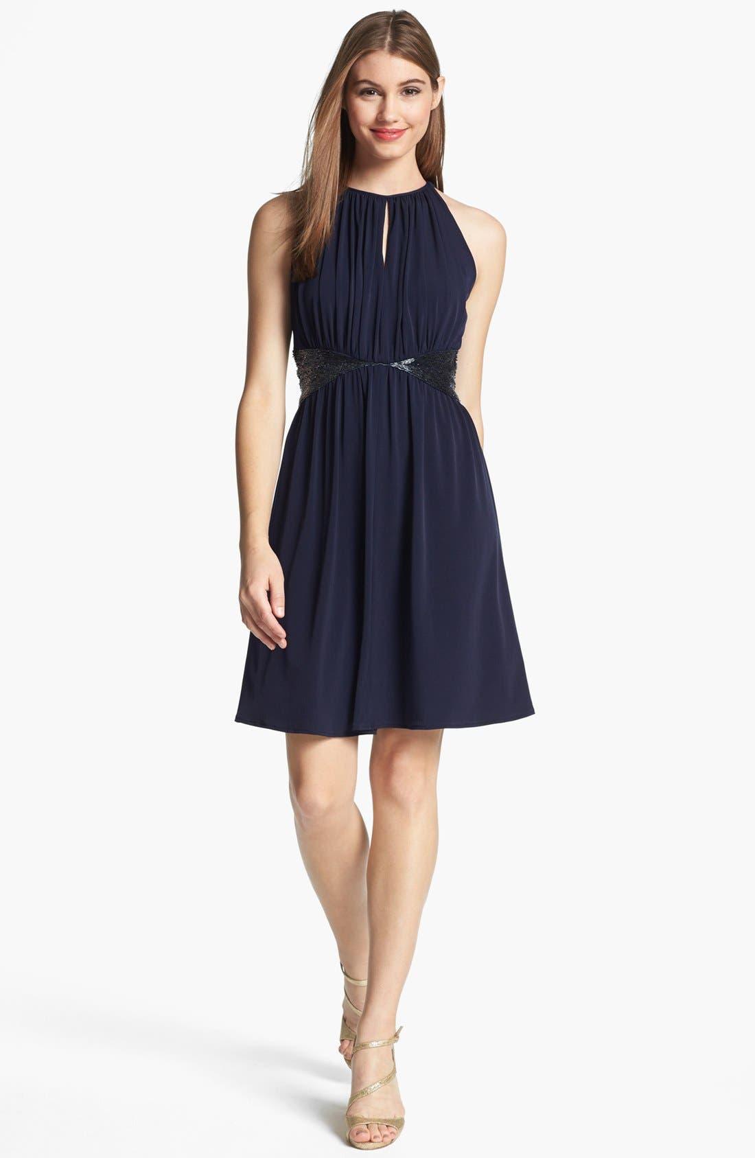 Main Image - JS Boutique Embellished Jersey Fit & Flare Dress
