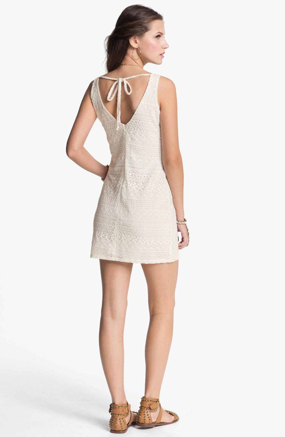 Alternate Image 2  - dee elle Crochet Body-Con Dress (Juniors)