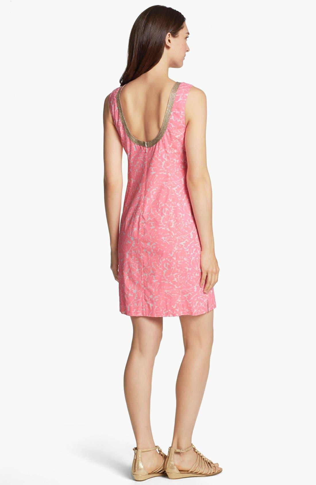 Alternate Image 2  - Lilly Pulitzer® 'Janise' Embellished Print Shift Dress