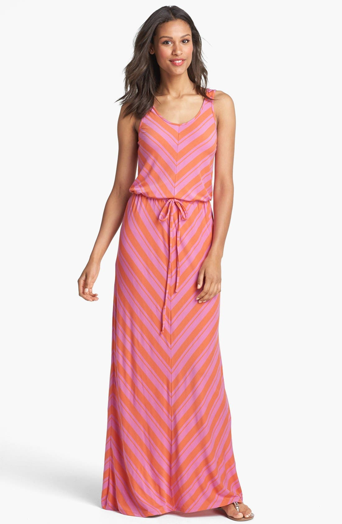 Alternate Image 1 Selected - Caslon® Drawstring Waist Maxi Dress