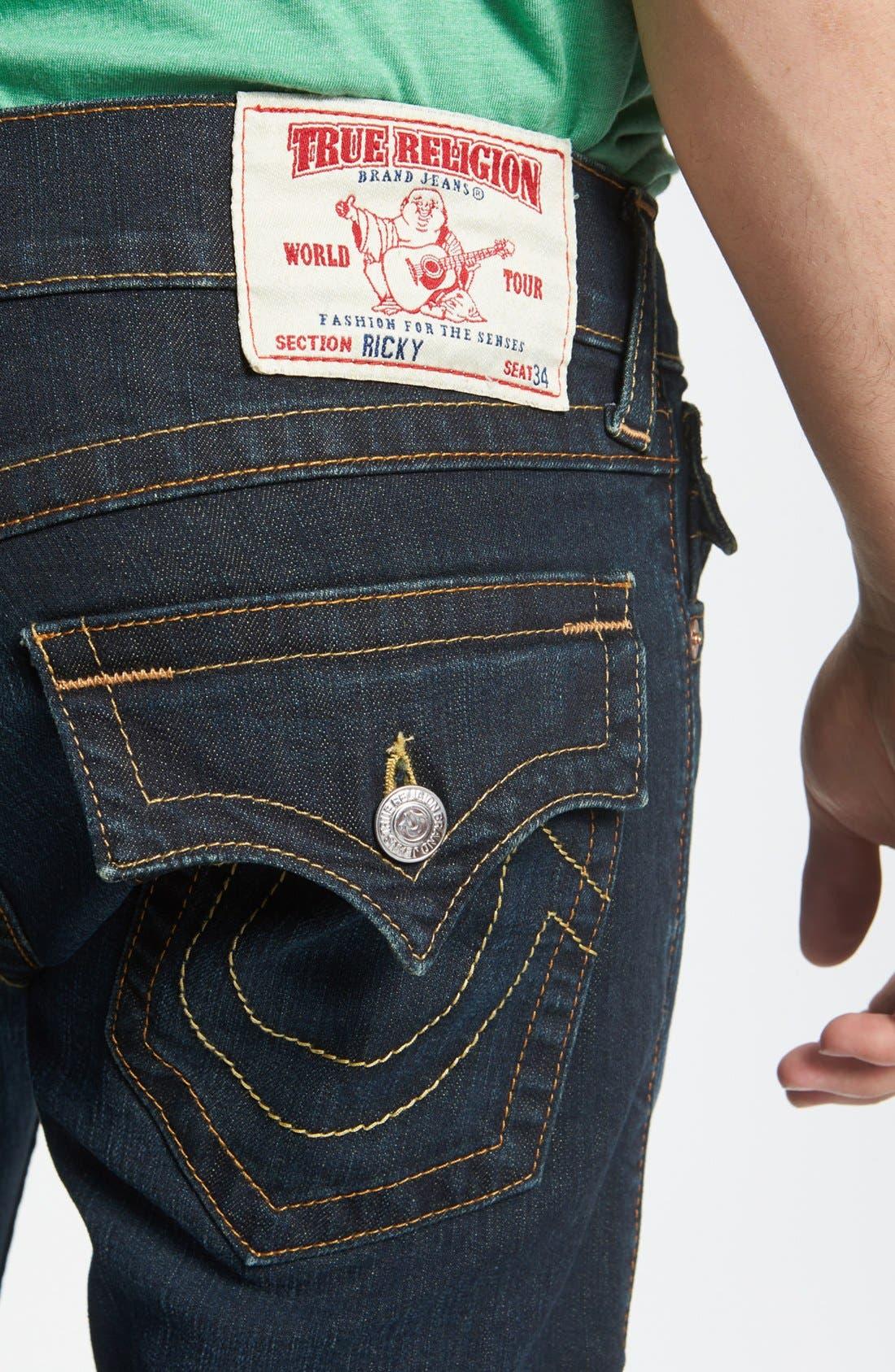 Alternate Image 4  - True Religion Brand Jeans 'Ricky' Straight Leg Jeans (Jackknife)