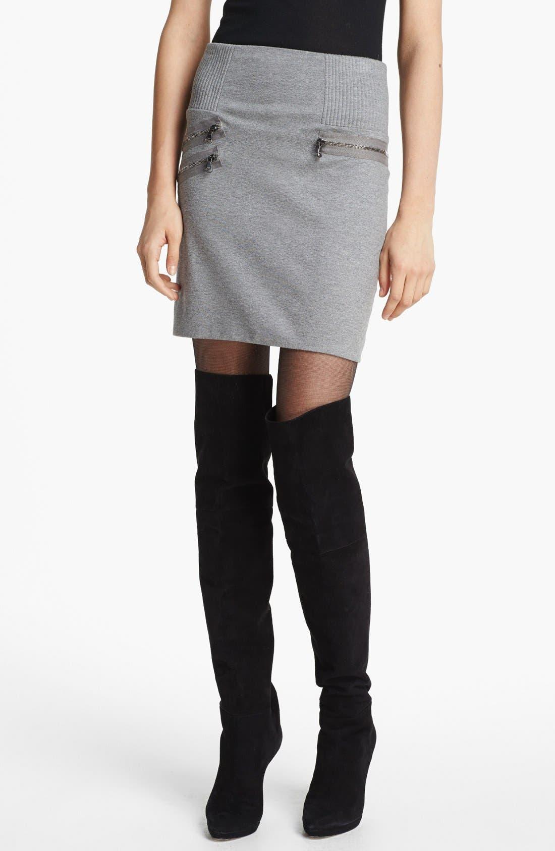 Alternate Image 1 Selected - 3.1 Phillip Lim Zip Detail Ponte Miniskirt