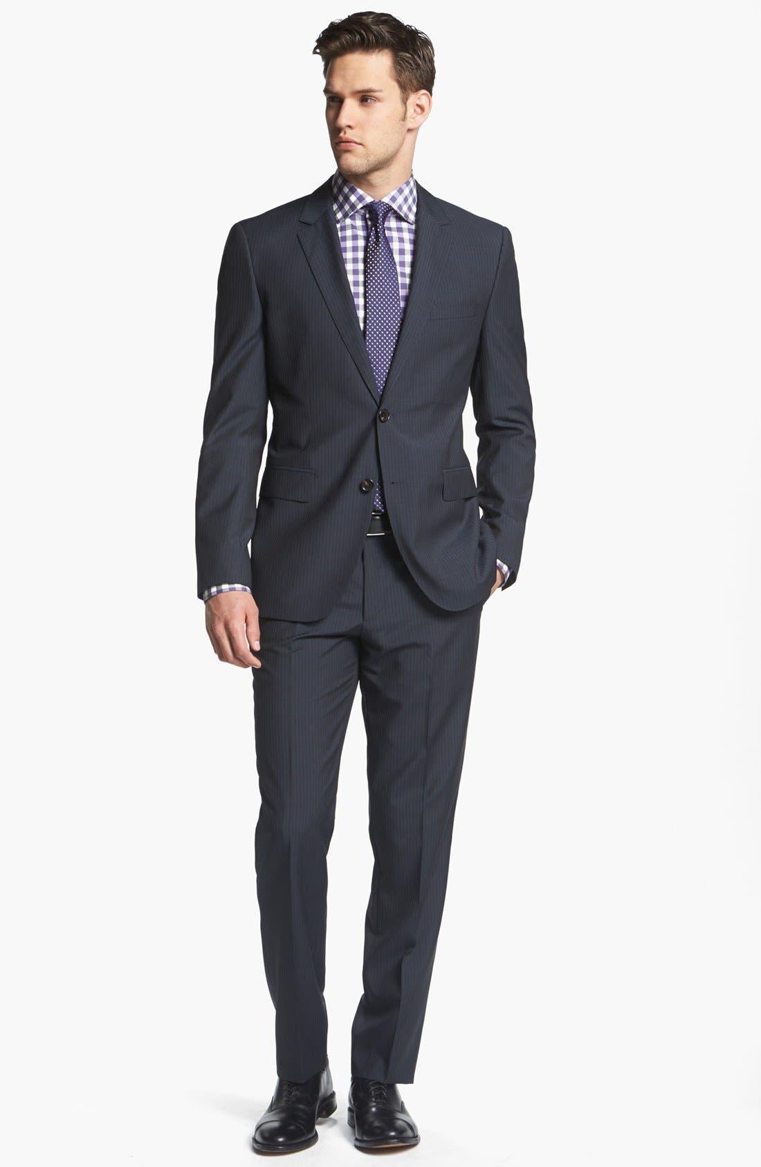 Alternate Image 1 Selected - BOSS Black Suit & Calibrate Dress Shirt