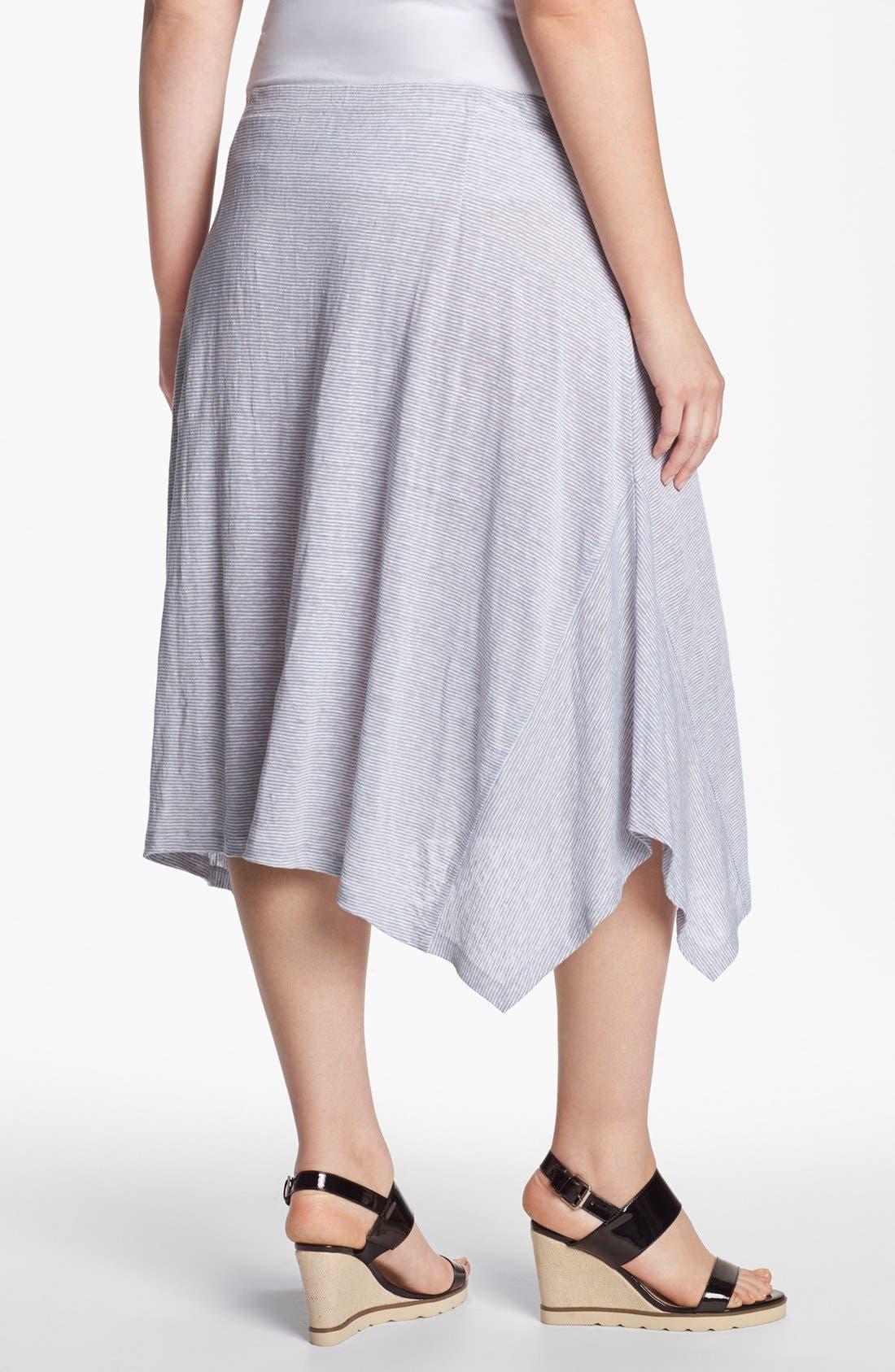 Alternate Image 2  - Eileen Fisher Stripe Linen Skirt (Plus Size)