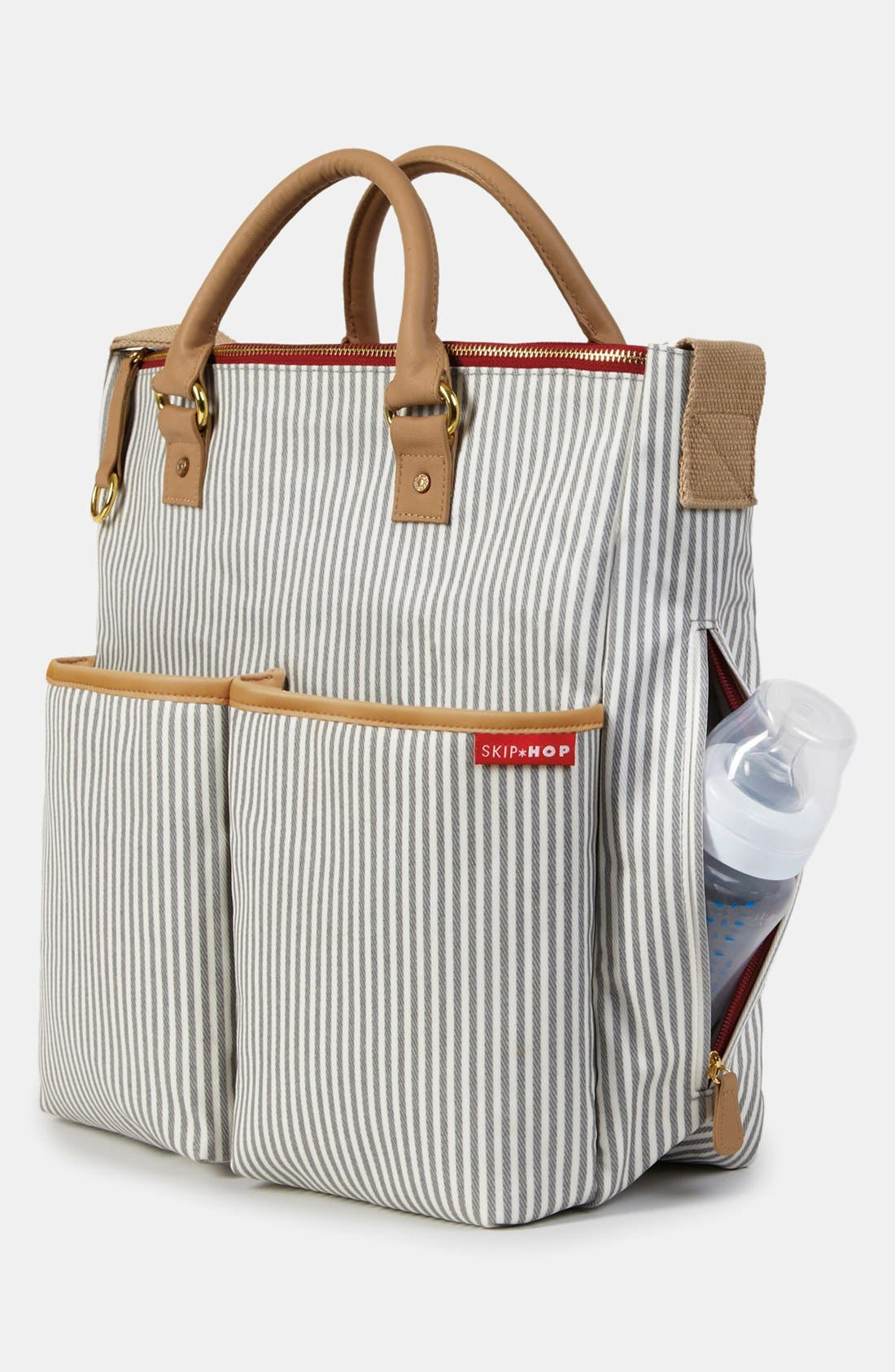 'Duo' Diaper Bag,                             Alternate thumbnail 7, color,                             Grey