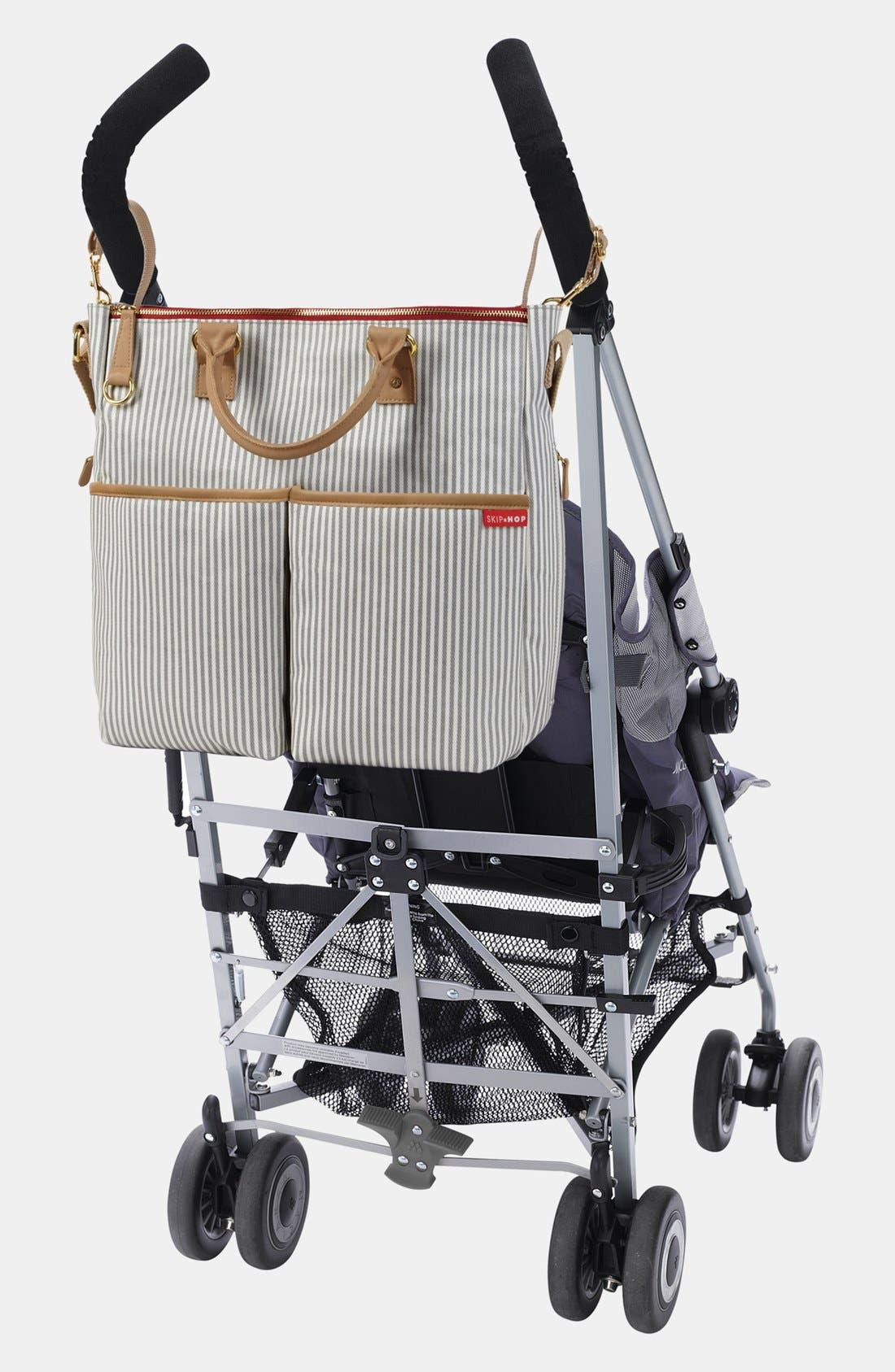 'Duo' Diaper Bag,                             Alternate thumbnail 8, color,                             Grey