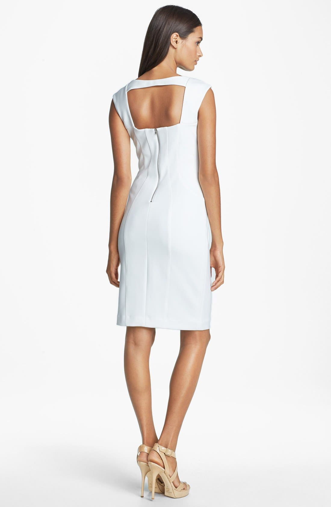 Alternate Image 2  - Maggy London Seamed Sheath Dress