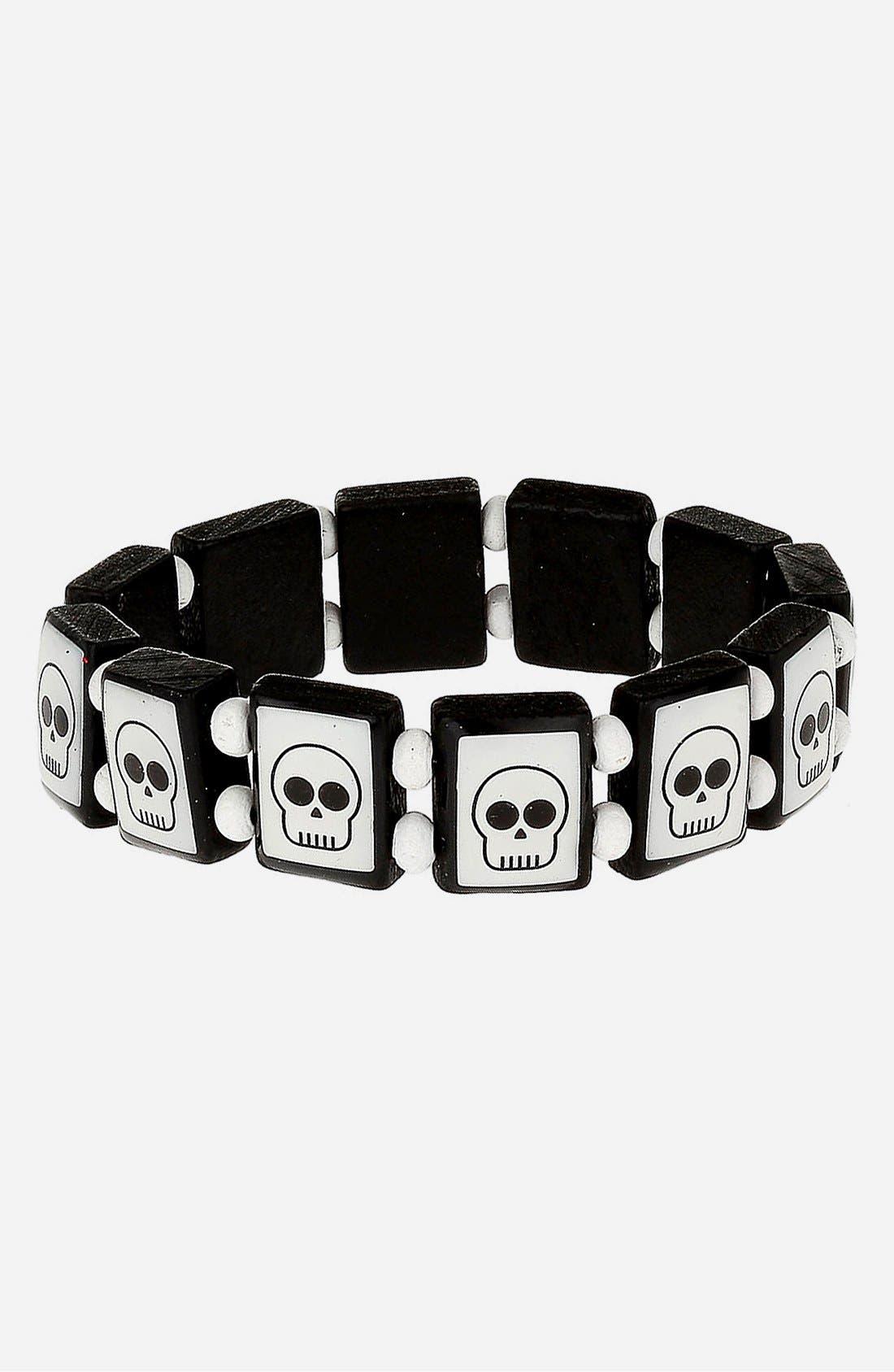 Main Image - Topman Skull Stretch Bracelet