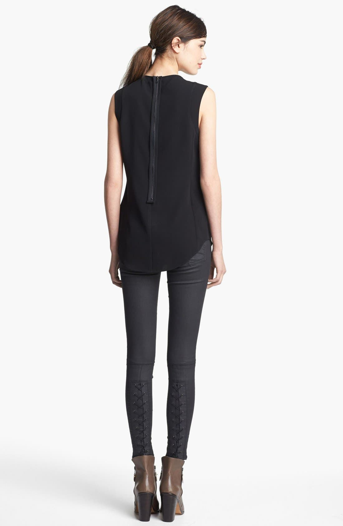Alternate Image 4  - rag & bone 'Astrid' Leather Collar Top