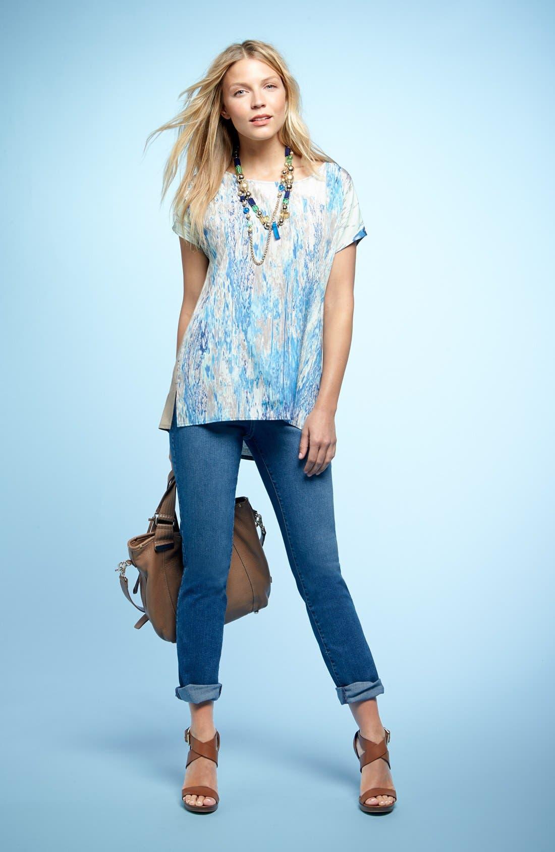 Alternate Image 1 Selected - NYDJ Top & 'Tanya' Boyfriend Jeans