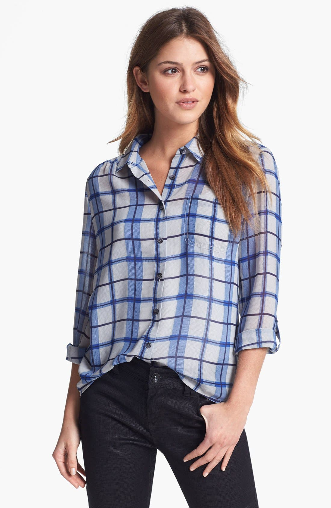 Alternate Image 1 Selected - Halogen® Chiffon Shirt