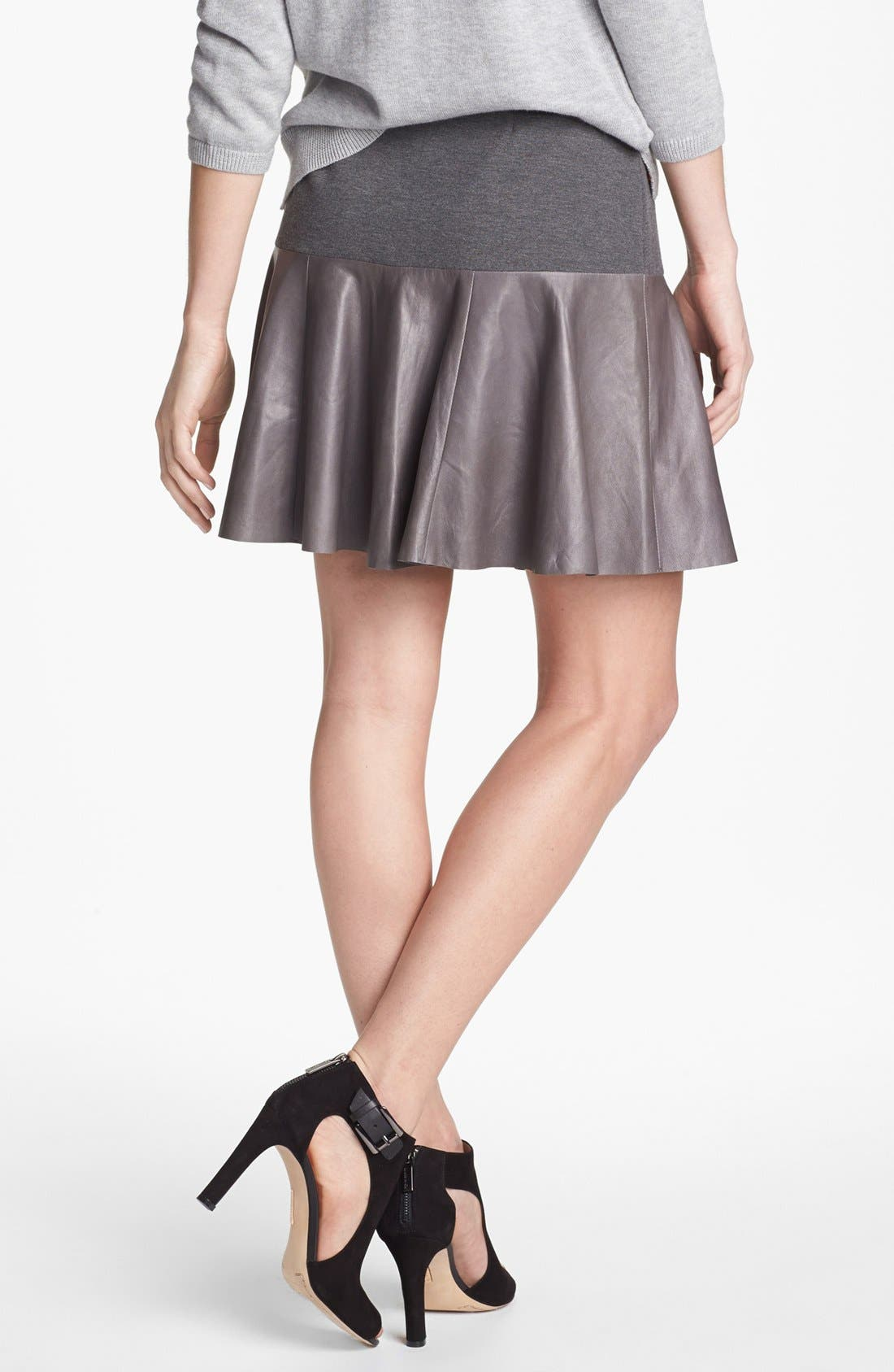 Alternate Image 2  - Hinge® Leather Panel Peplum Skirt