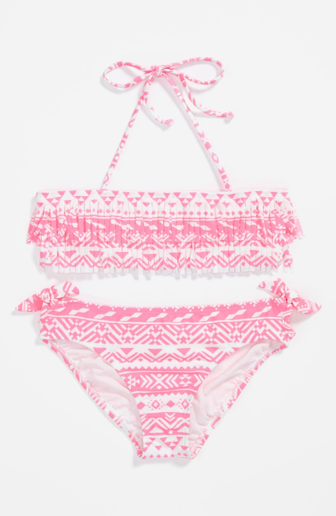 Alternate Image 1 Selected - Two Piece Swimsuit (Little Girls & Big Girls) (Special Purchase)
