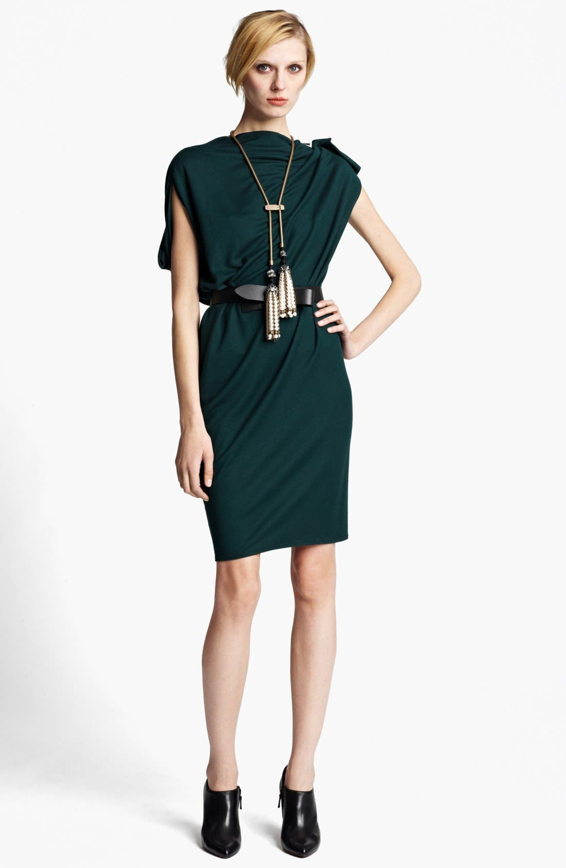Alternate Image 1 Selected - Lanvin Zip Detail Draped Dress