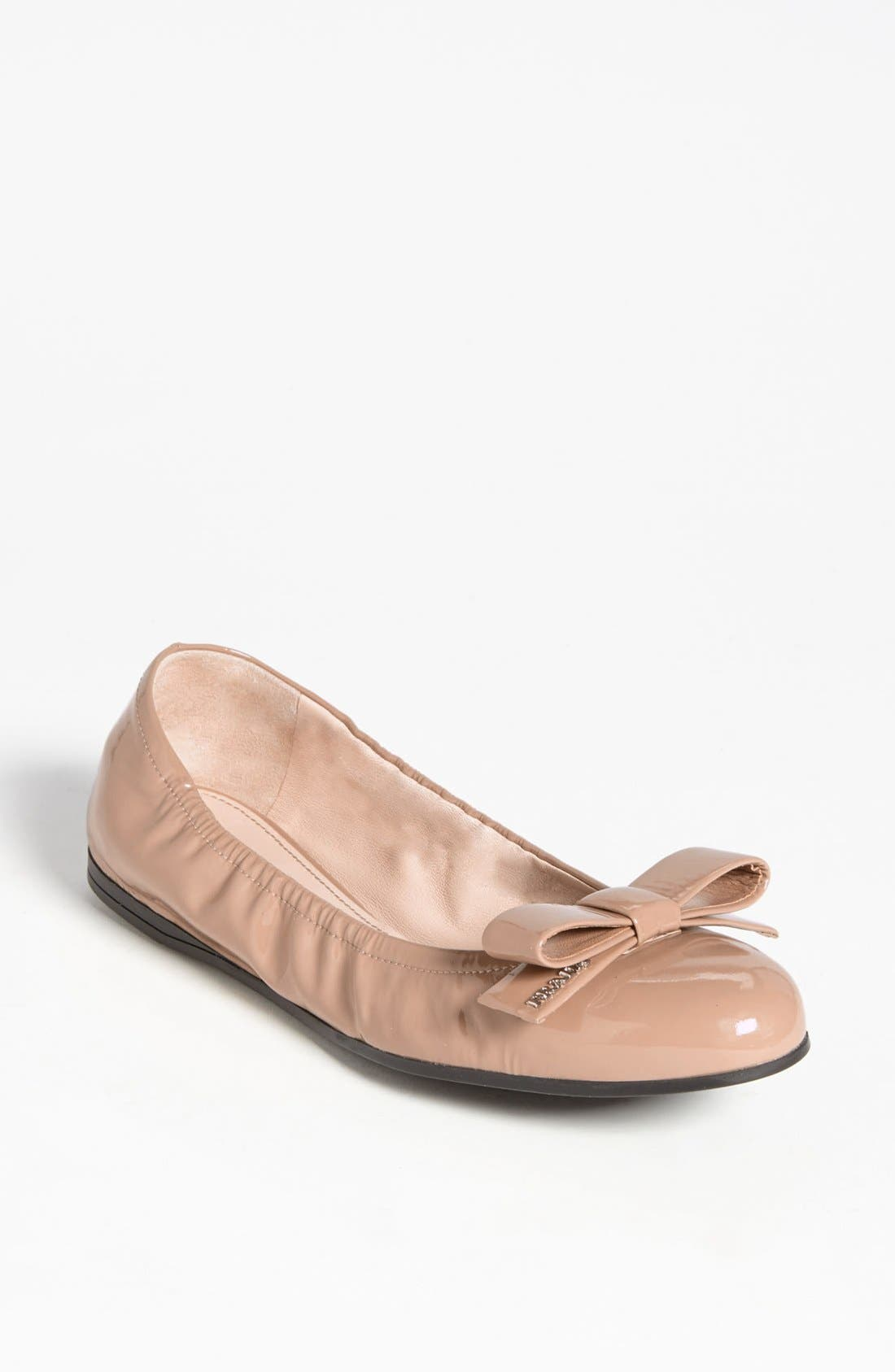 Bow Ballet Flat,                         Main,                         color, Nude