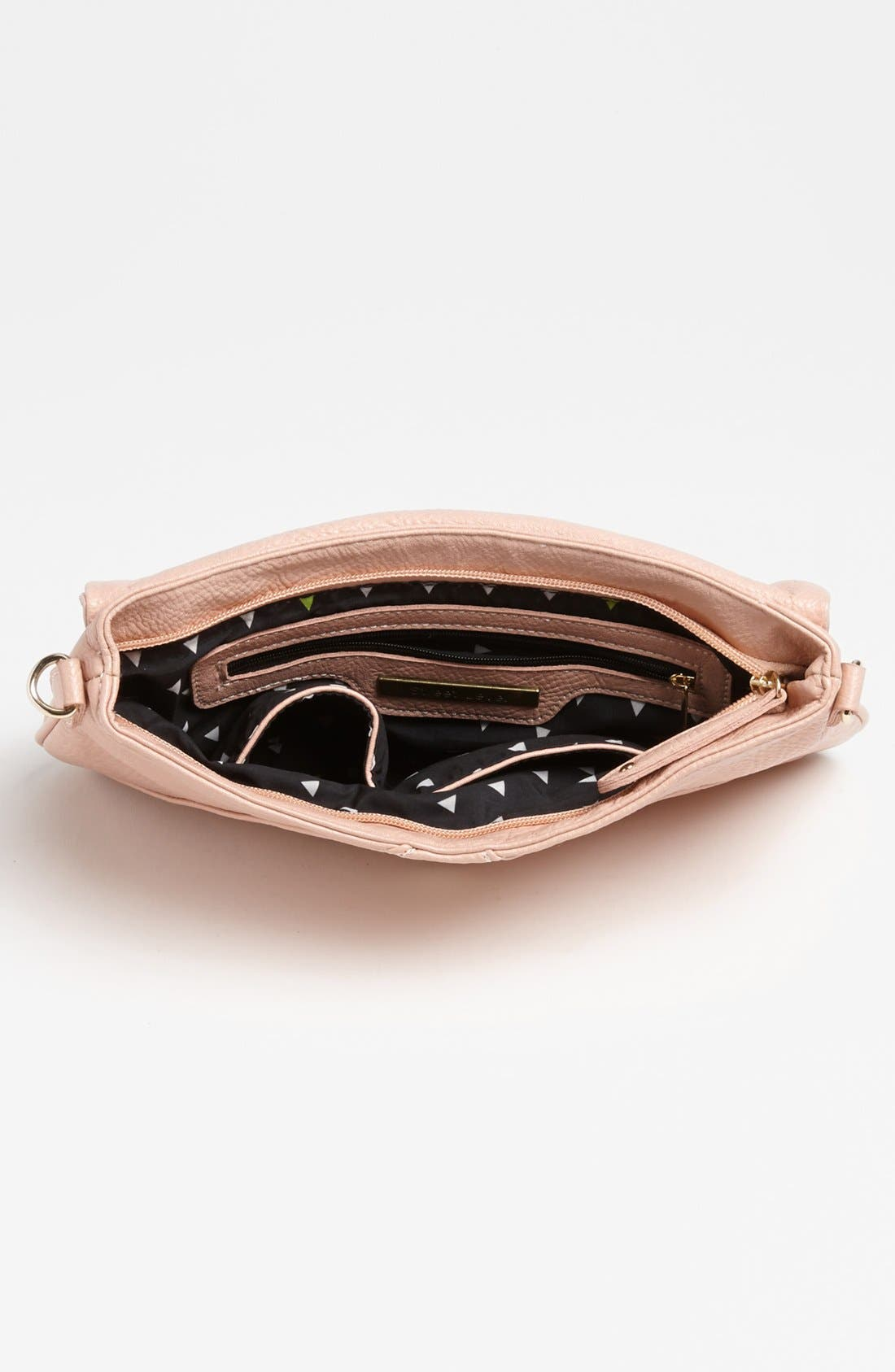 Alternate Image 3  - Street Level Double Zip Faux Leather Crossbody Bag