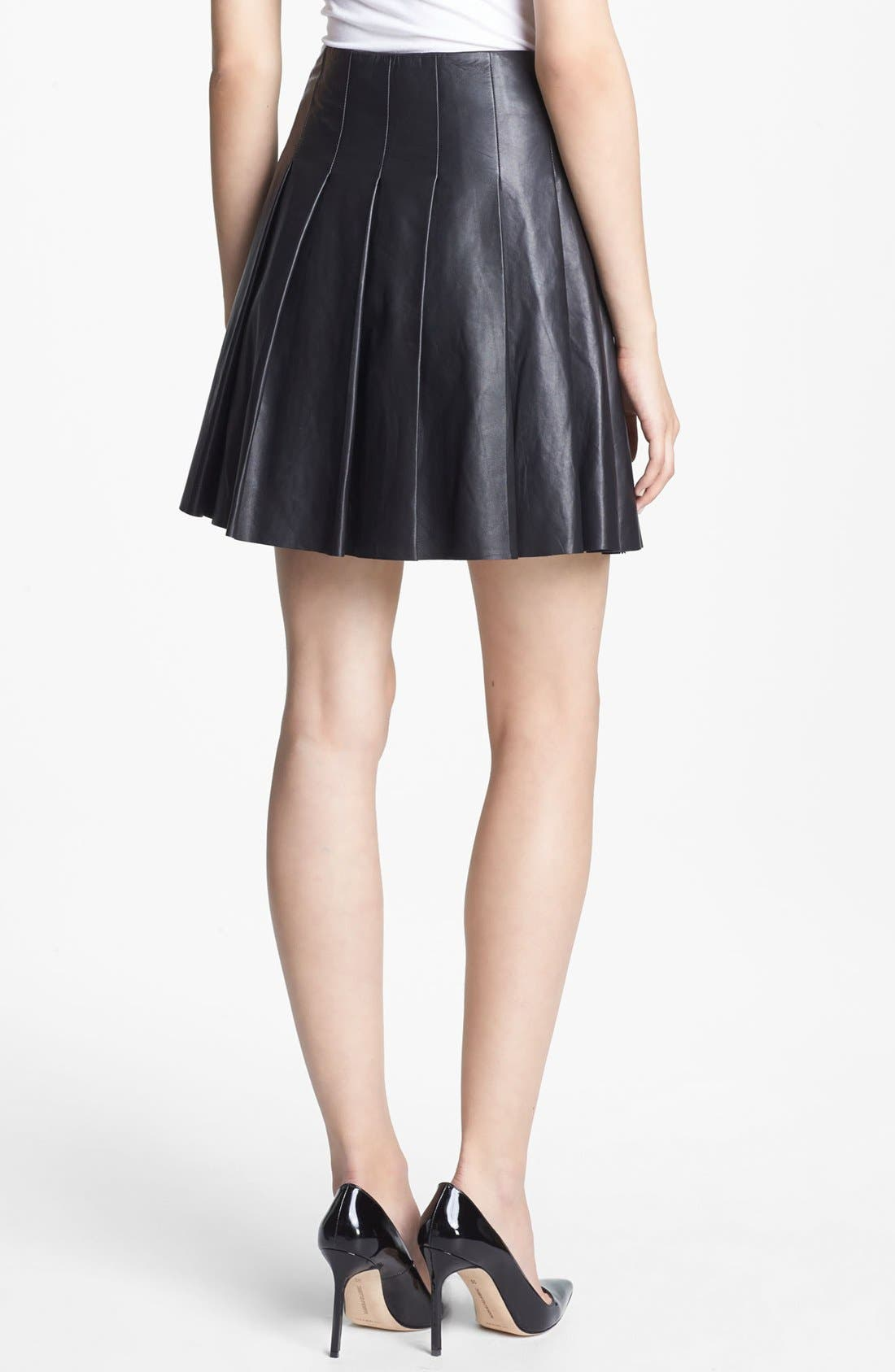Alternate Image 3  - Miss Wu Pleated Leather Skirt (Nordstrom Exclusive)