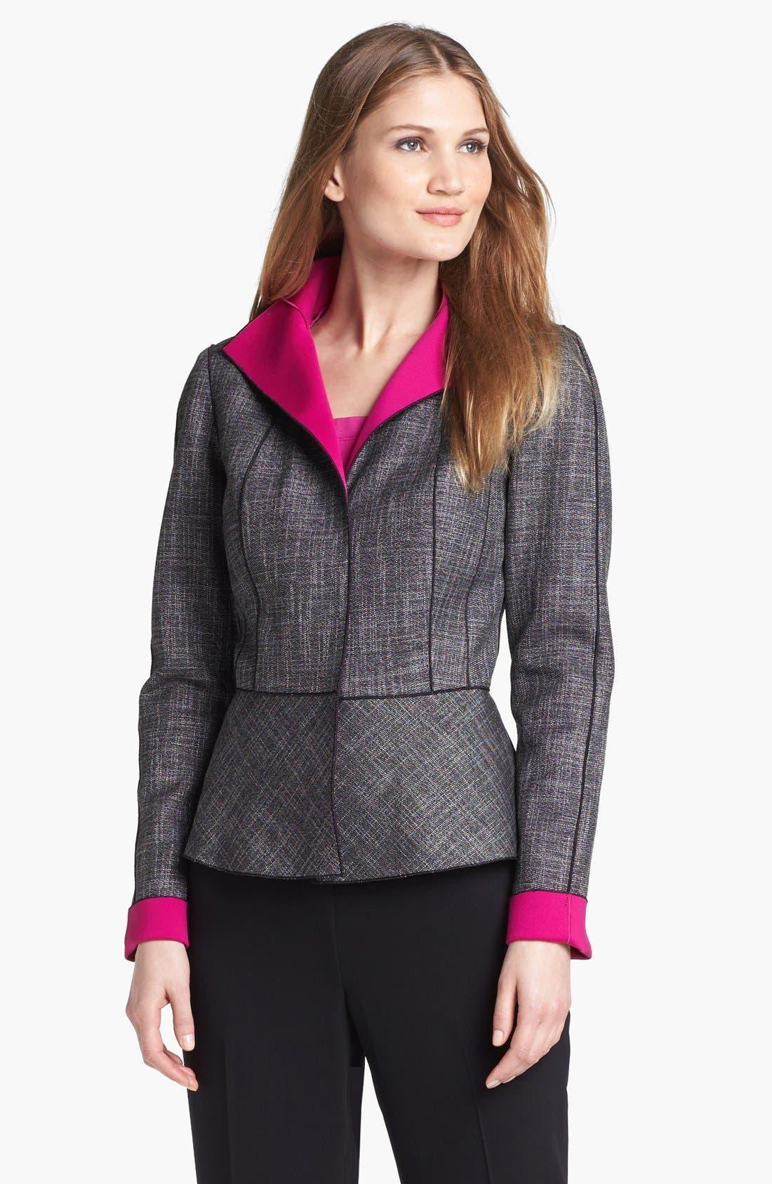 Alternate Image 1 Selected - Lafayette 148 New York 'Amanda - Convex Cloth' Jacket
