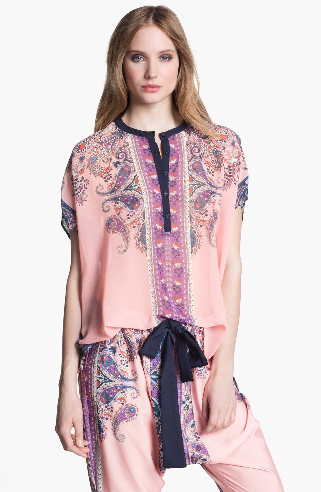 Alternate Image 1 Selected - Clover Canyon 'Bohemian Scarf' Print Top