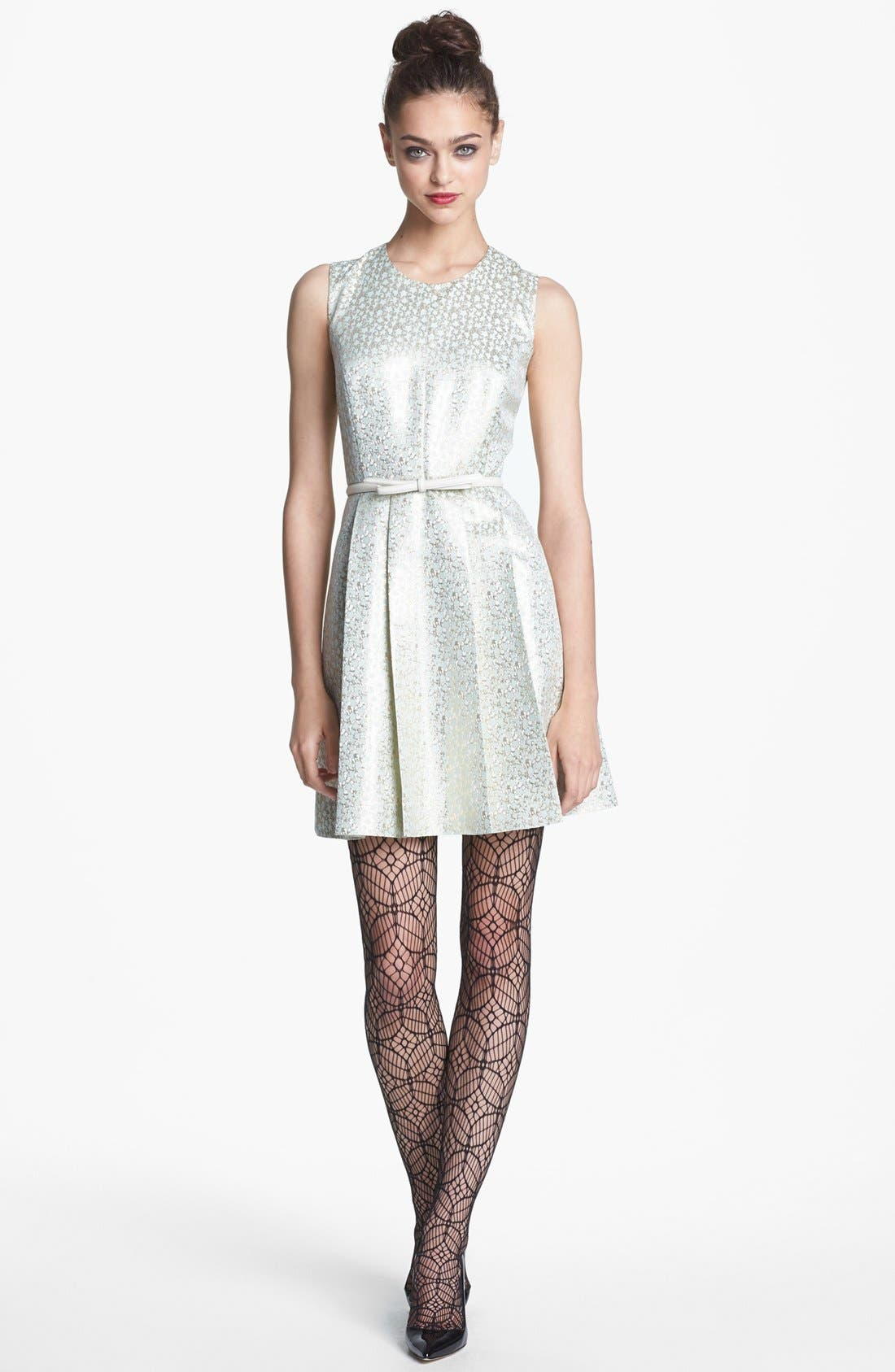 Main Image - Miss Wu Marled Jacquard Cocktail Dress (Nordstrom Exclusive)