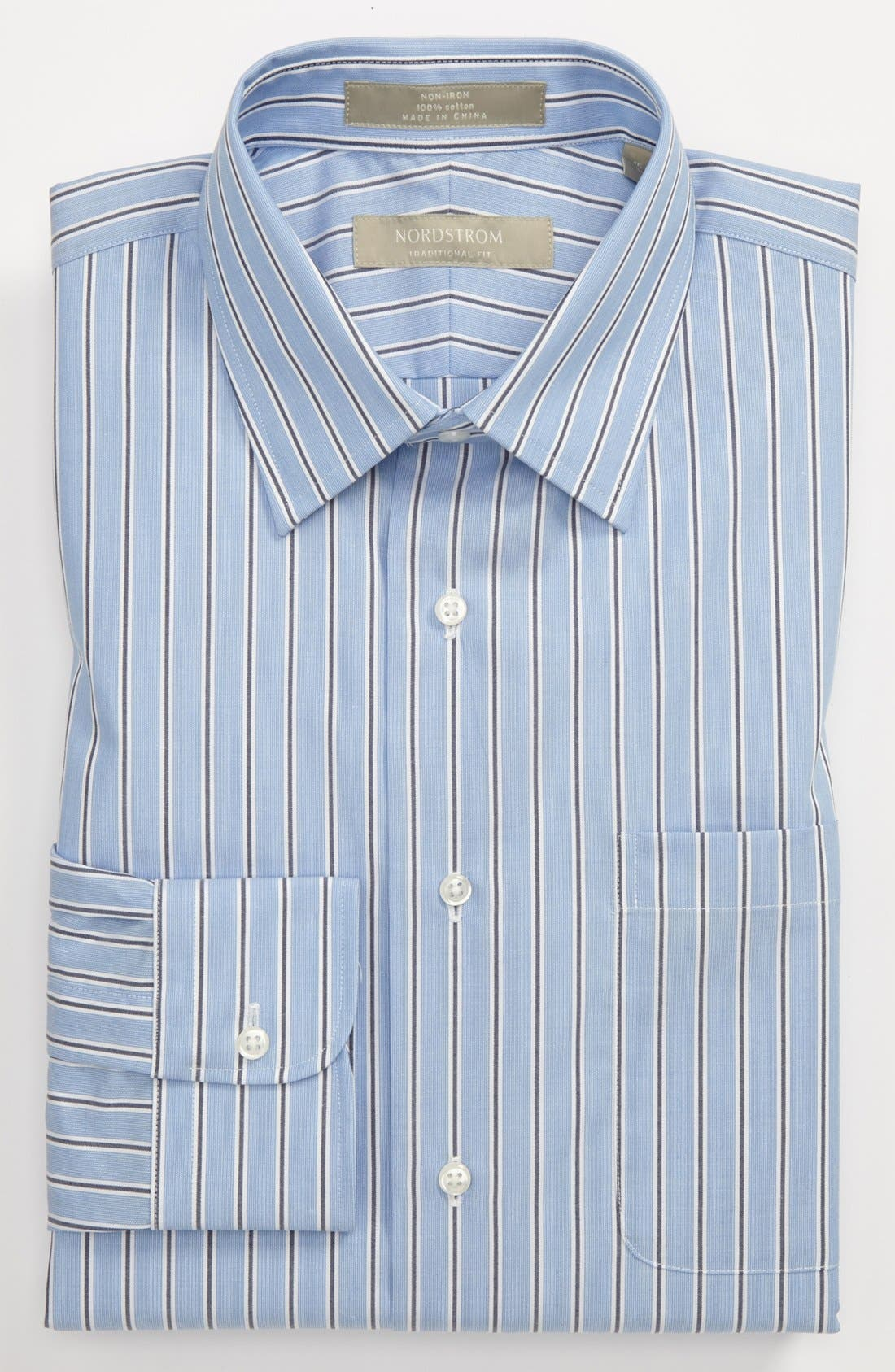 Alternate Image 1 Selected - Nordstrom Traditional Fit Non-Iron Dress Shirt