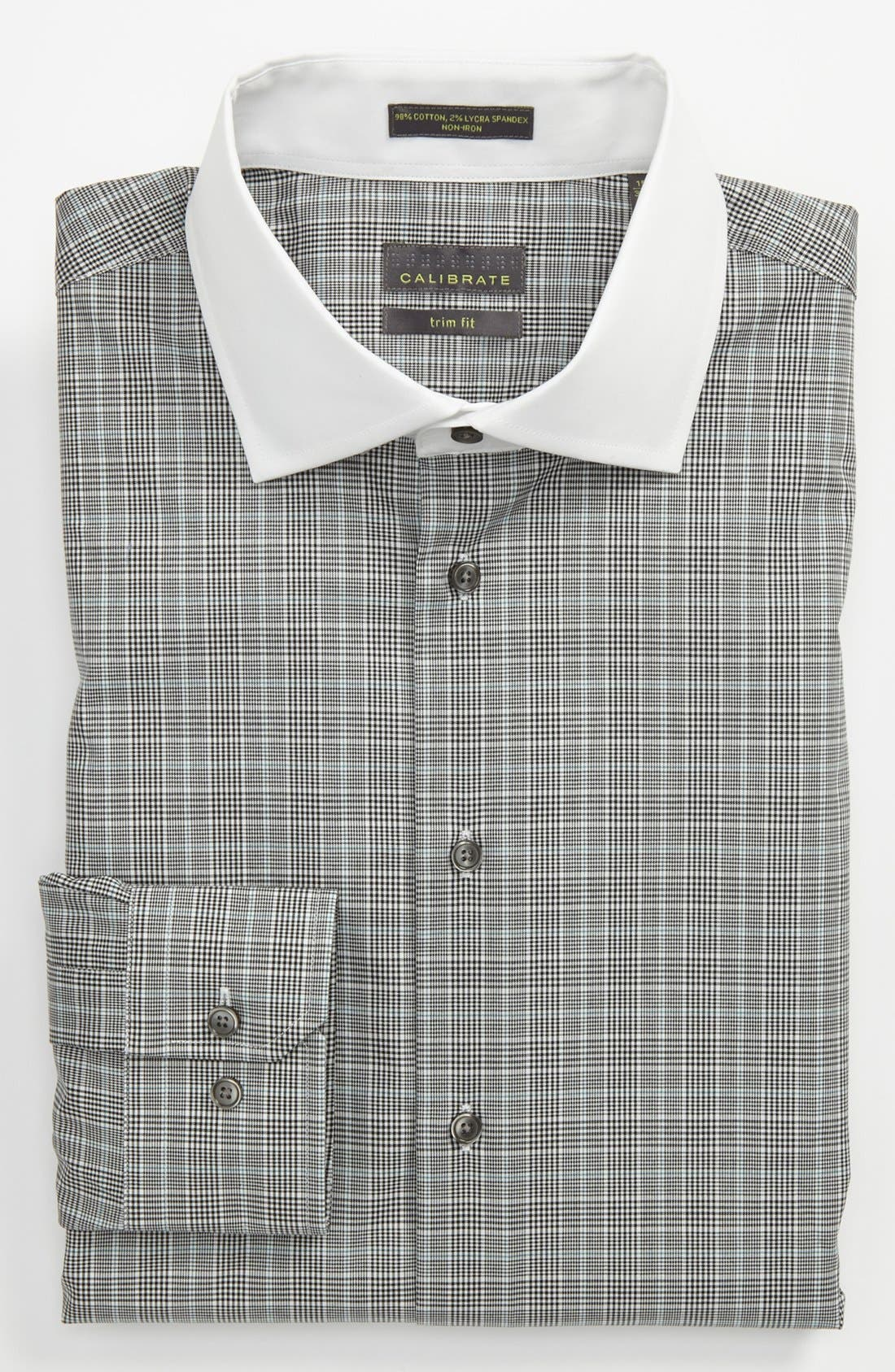 Alternate Image 1 Selected - Calibrate Trim Fit Non-Iron Dress Shirt